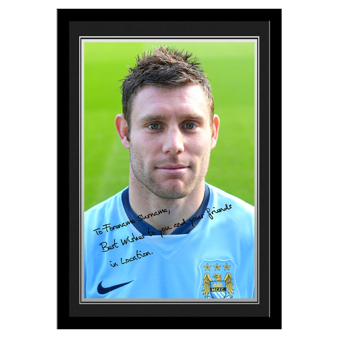 Manchester City Personalised Signature Photo Frame - James Milner