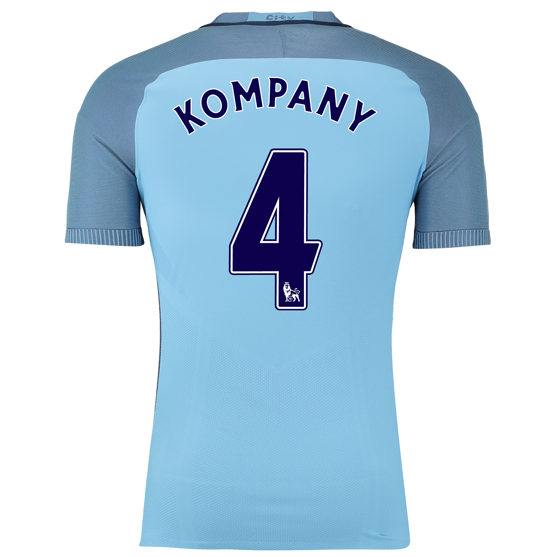 Manchester City Home Match Shirt 2016-17 with Kompany 4 printing