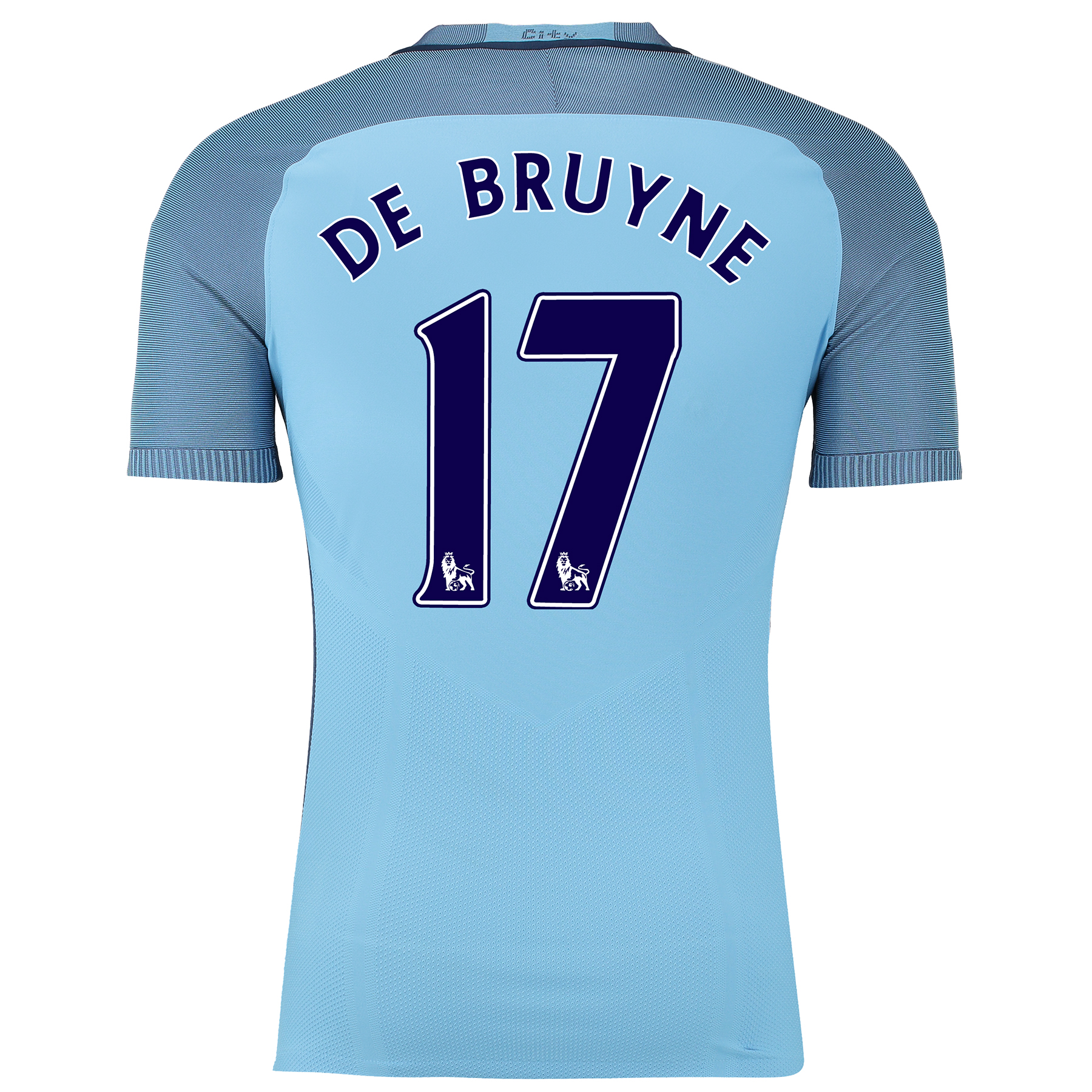 Manchester City Home Match Shirt 2016-17 with De Bruyne 17 printing