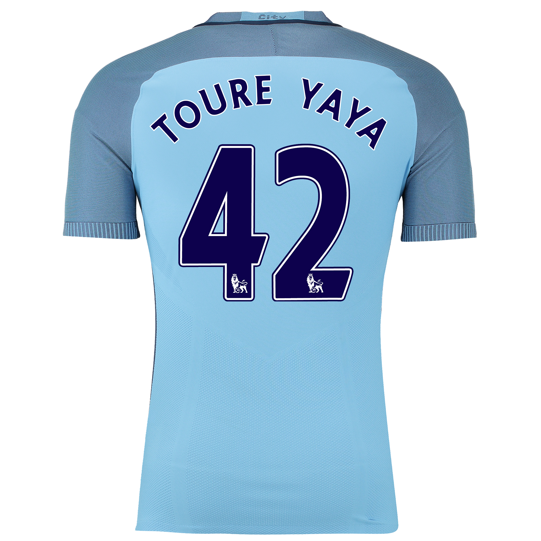 Manchester City Home Match Shirt 2016-17 with Toure Yaya 42 printing