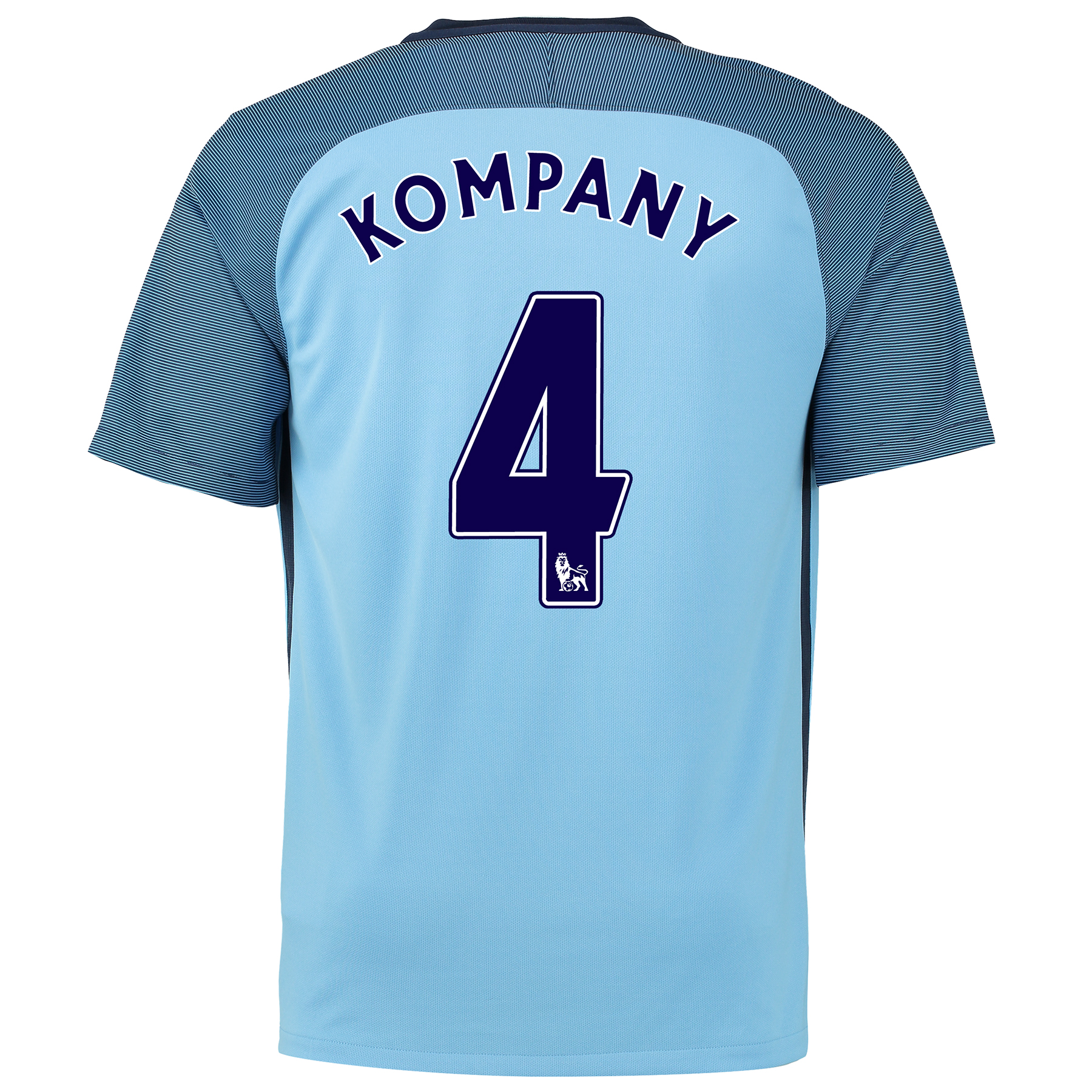 Manchester City Home Shirt 2016-17 with Kompany 4 printing