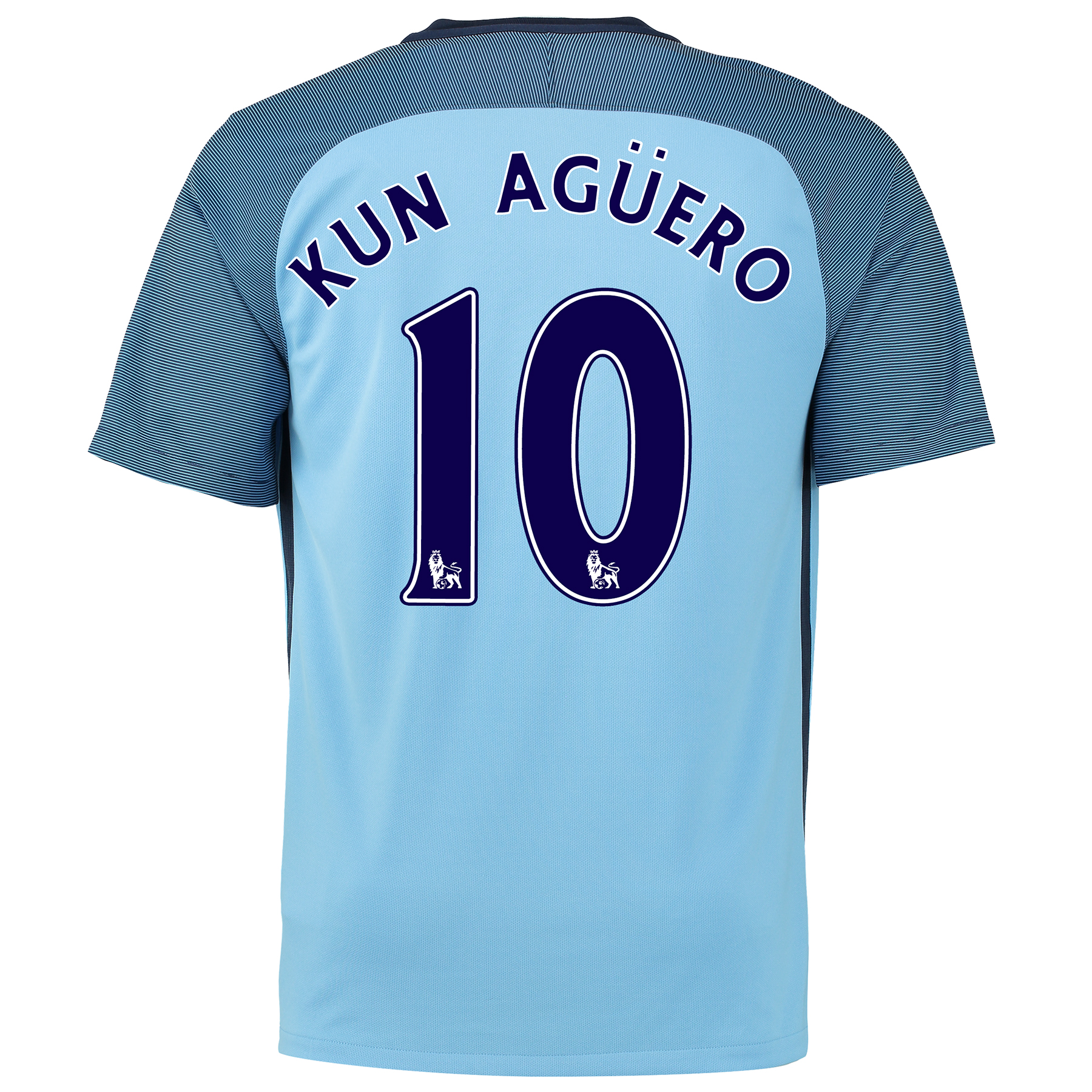 Manchester City Home Shirt 2016-17 with Kun Aguero  10 printing