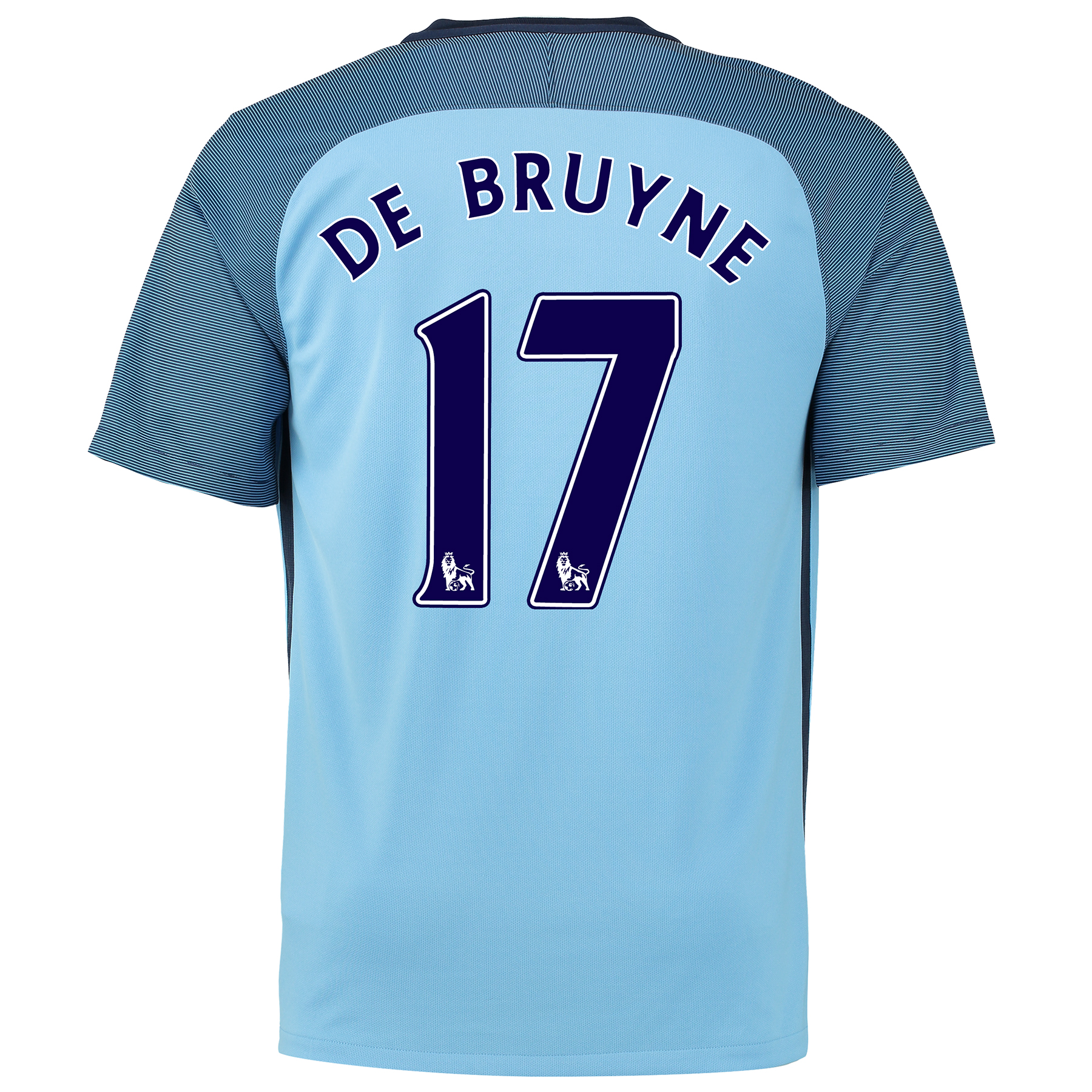 Manchester City Home Shirt 2016-17 with De Bruyne 17 printing