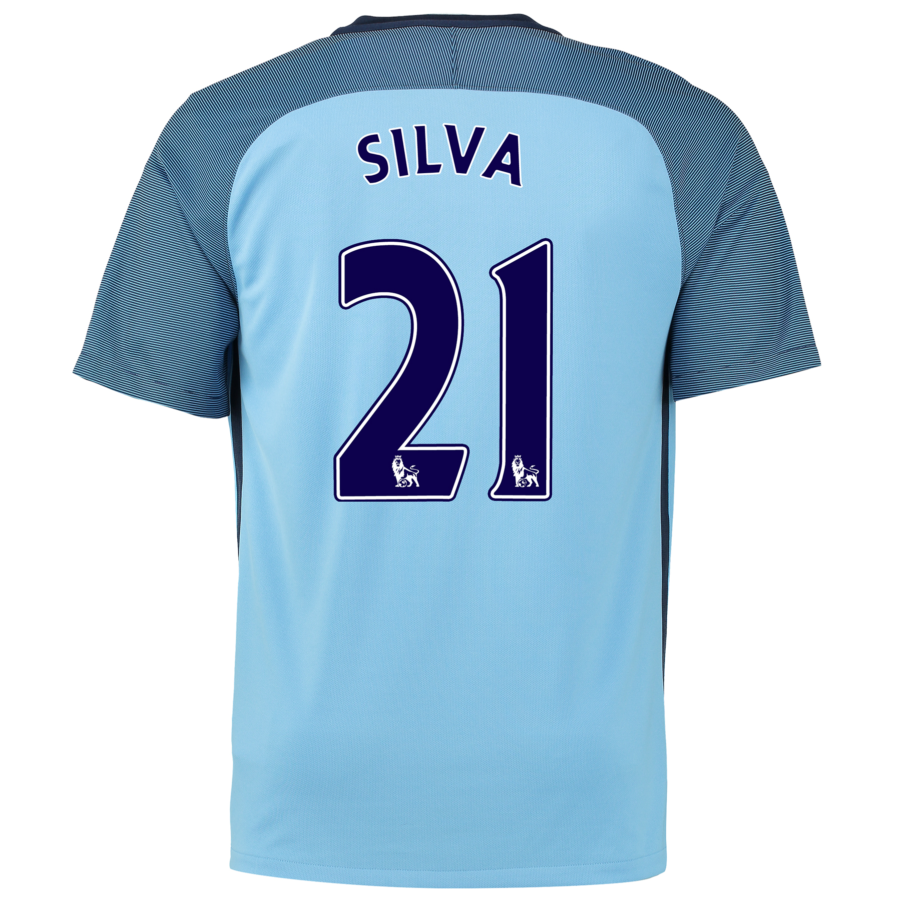 Manchester City Home Shirt 2016-17 with Silva 21 printing