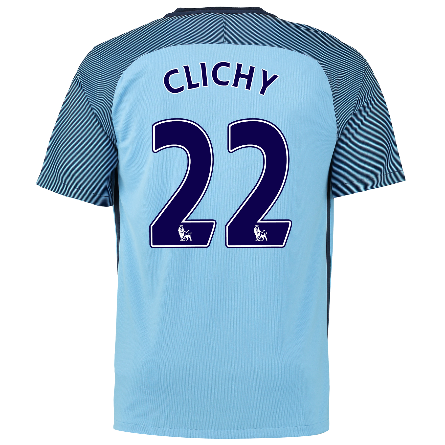 Manchester City Home Shirt 2016-17 with Clichy 22 printing