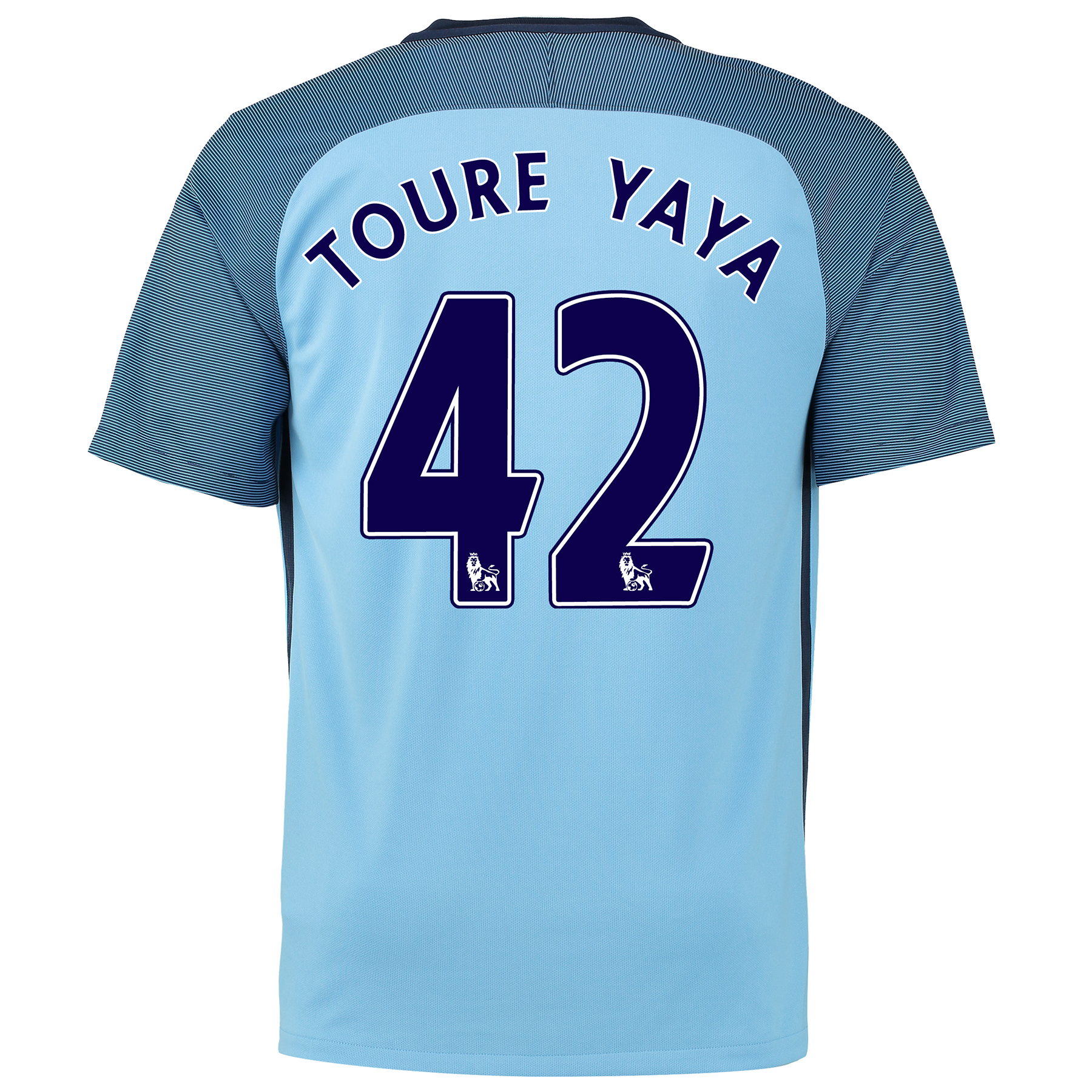 Manchester City Home Shirt 2016-17 with Toure Yaya 42 printing