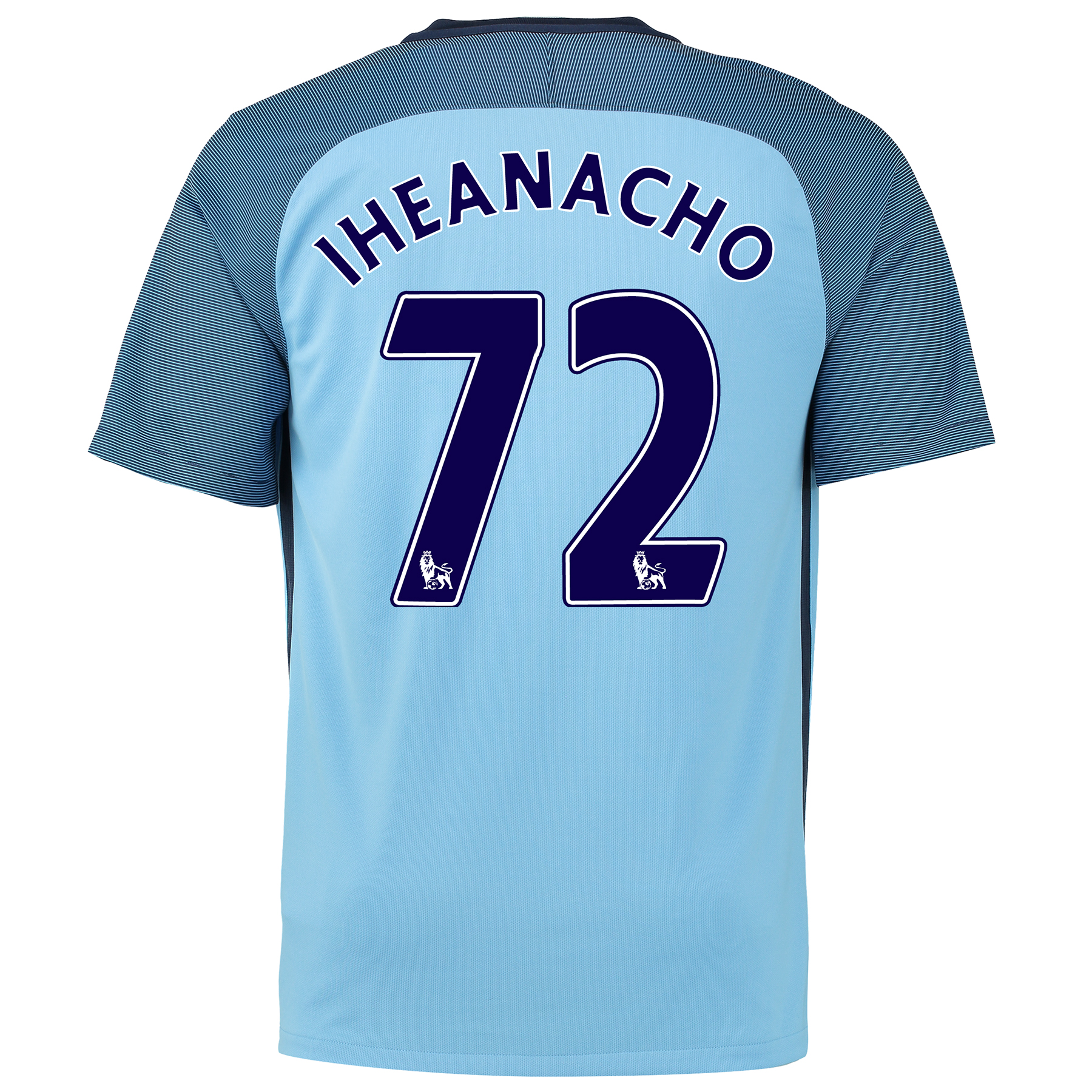 Manchester City Home Shirt 2016-17 with Iheanacho 72 printing