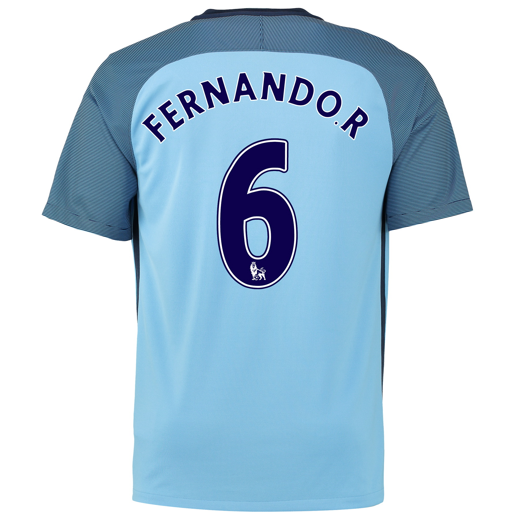 Manchester City Home Shirt 2016-17 - Kids with Fernando. R 6 printing