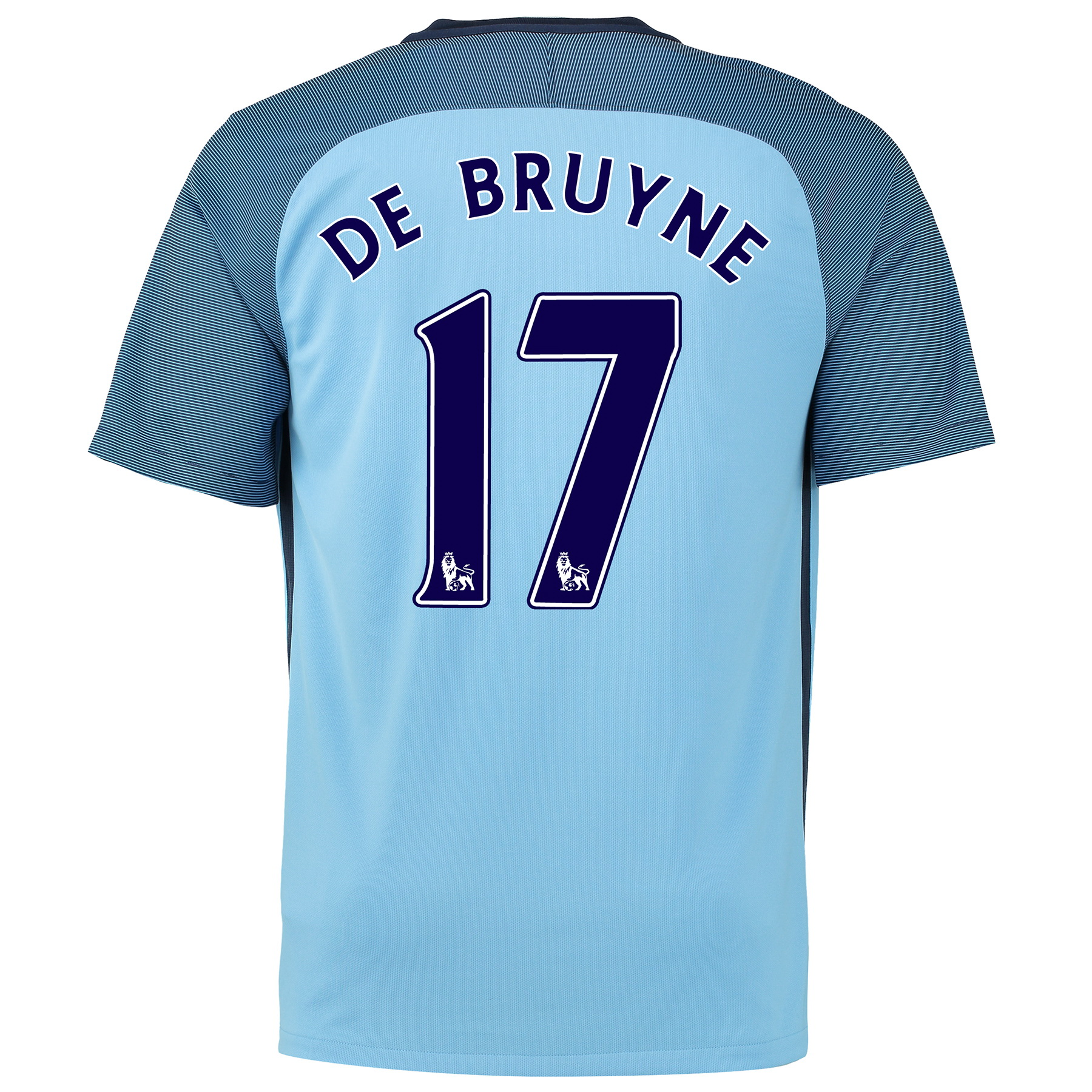 Manchester City Home Shirt 2016-17 - Kids with De Bruyne 17 printing