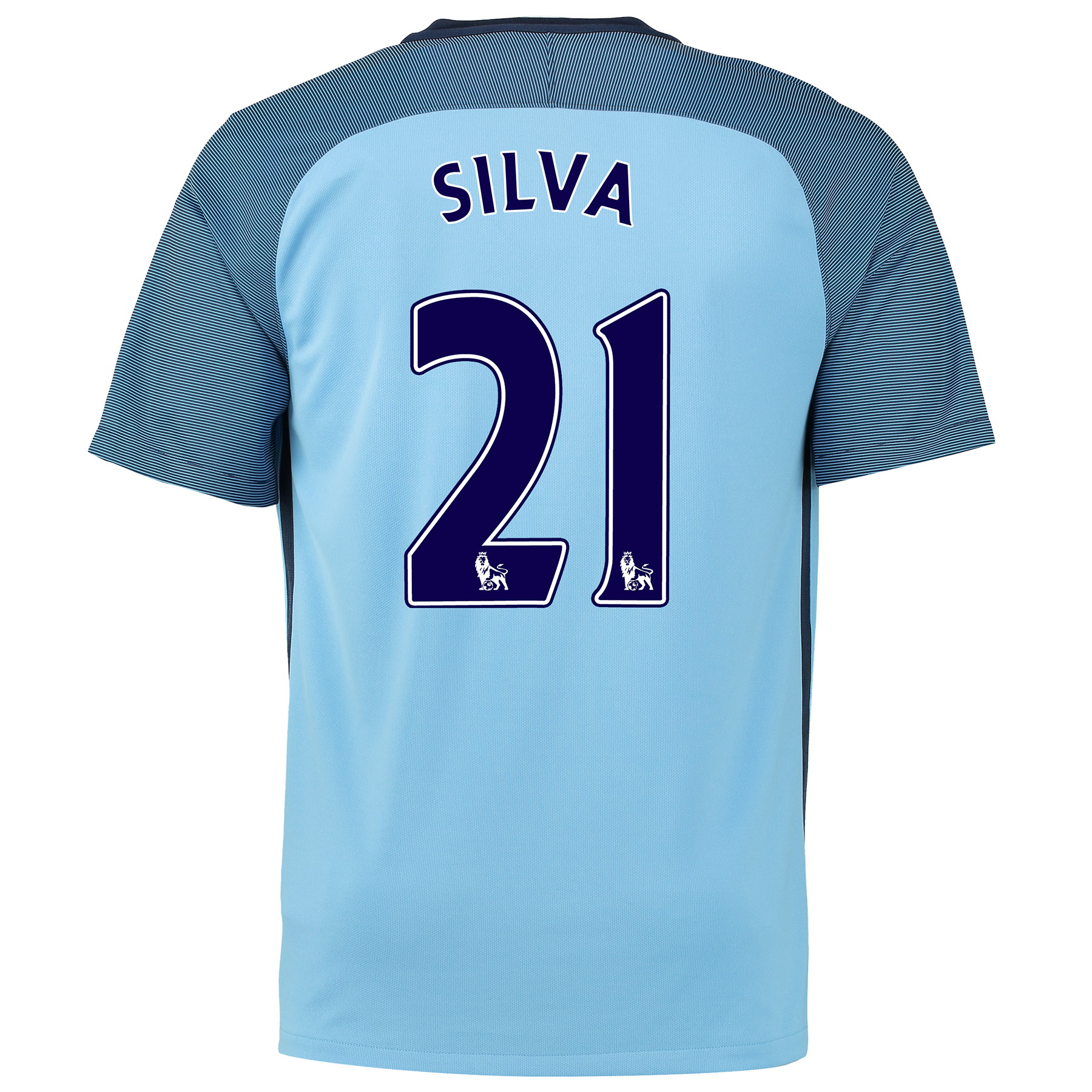 Manchester City Home Shirt 2016-17 - Kids with Silva 21 printing