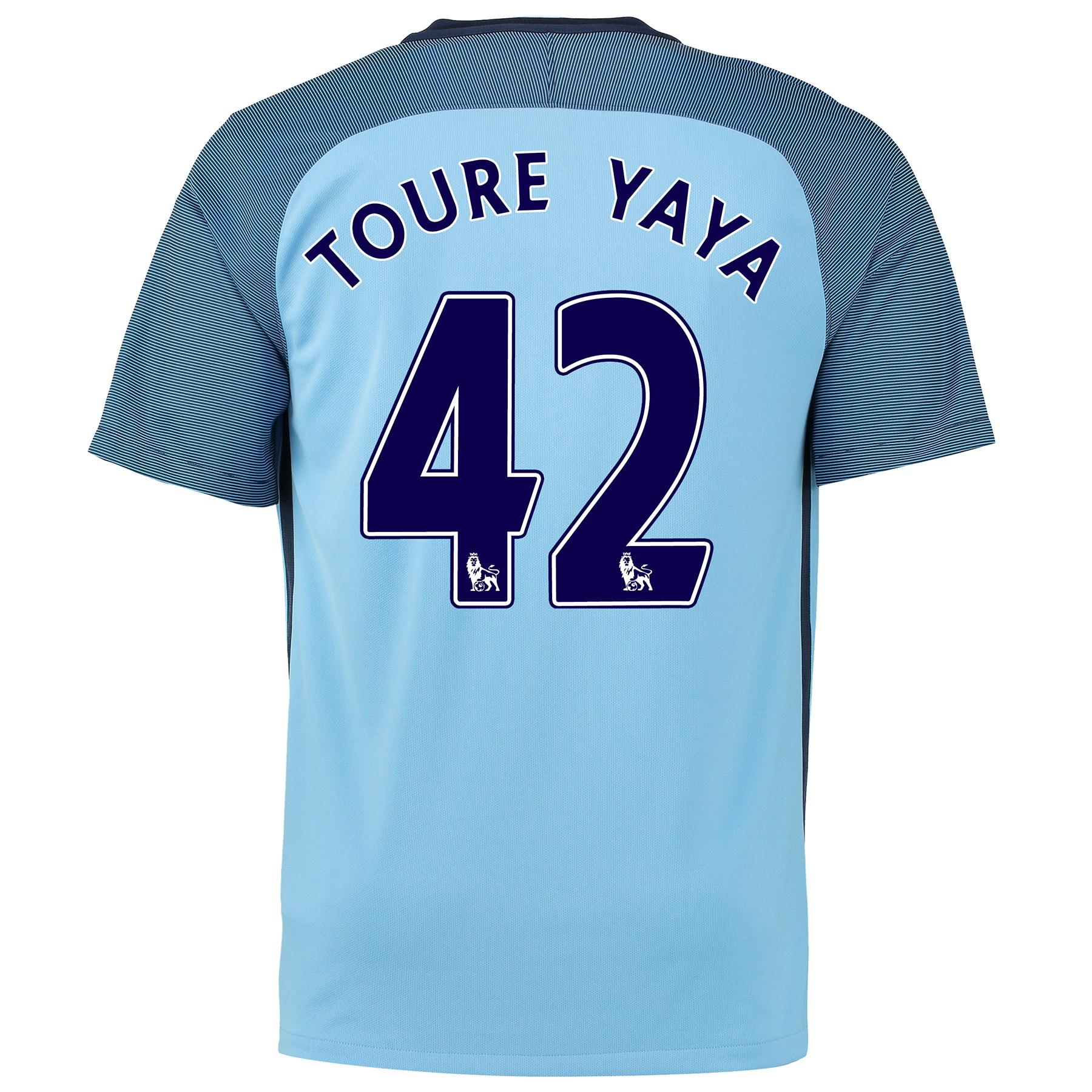 Manchester City Home Shirt 2016-17 - Kids with Toure Yaya 42 printing