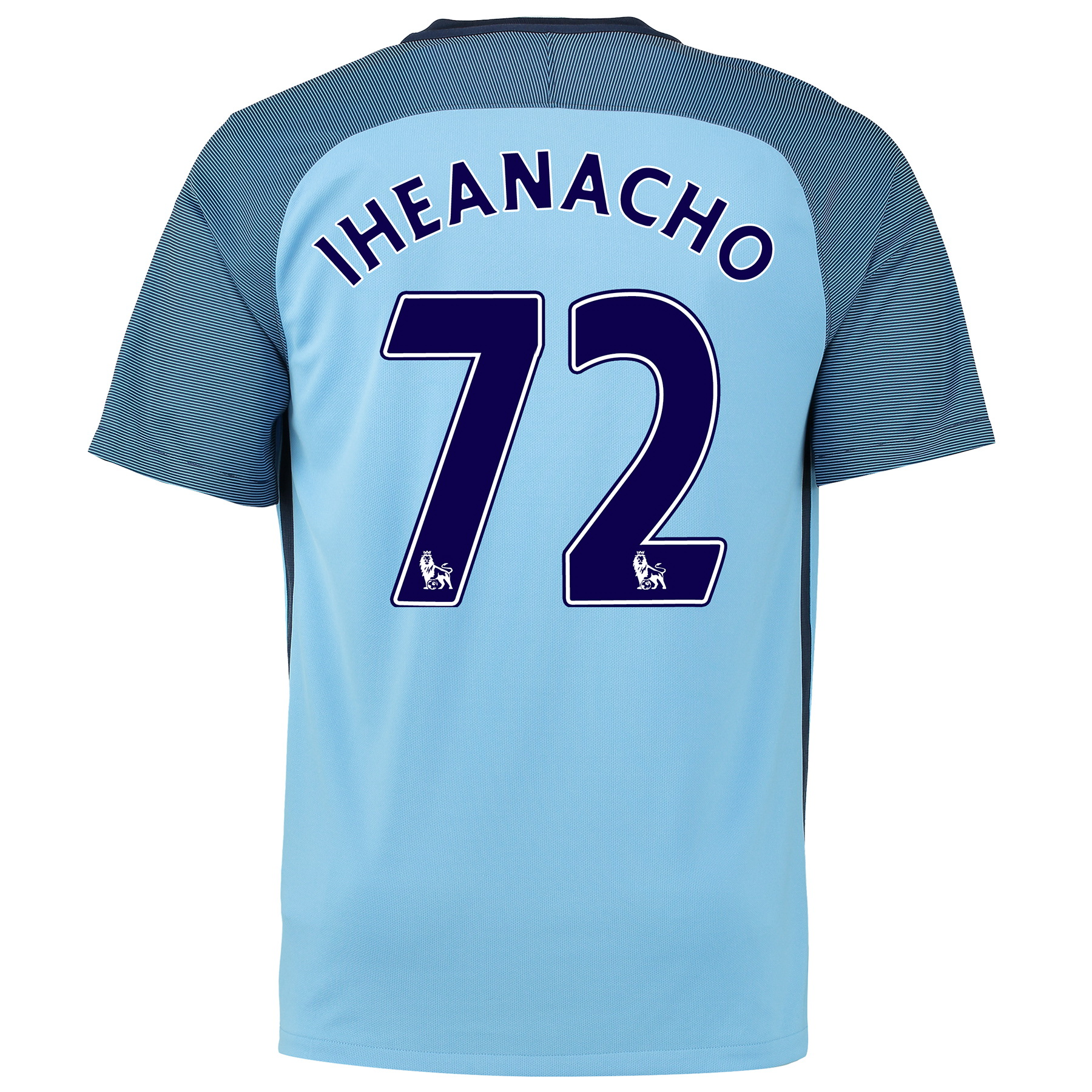 Manchester City Home Shirt 2016-17 - Kids with Iheanacho 72 printing