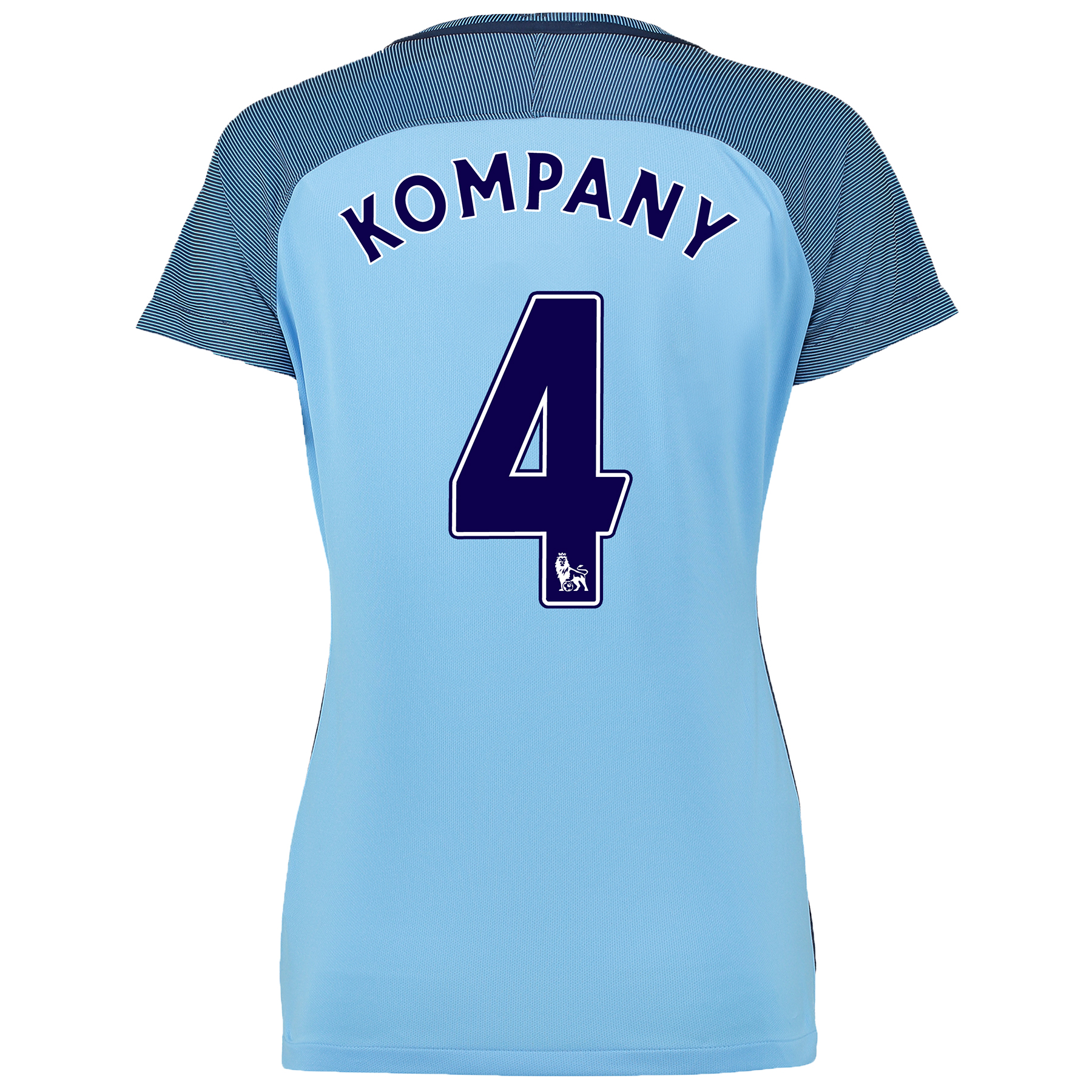 Manchester City Home Shirt 2016-17 - Womens with Kompany 4 printing