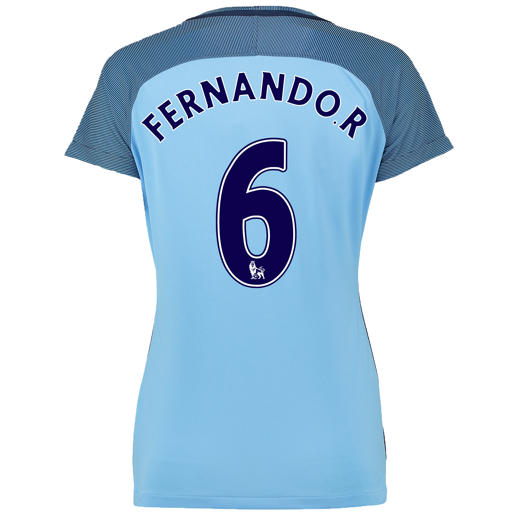 Manchester City Home Shirt 2016-17 - Womens with Fernando. R 6 printin