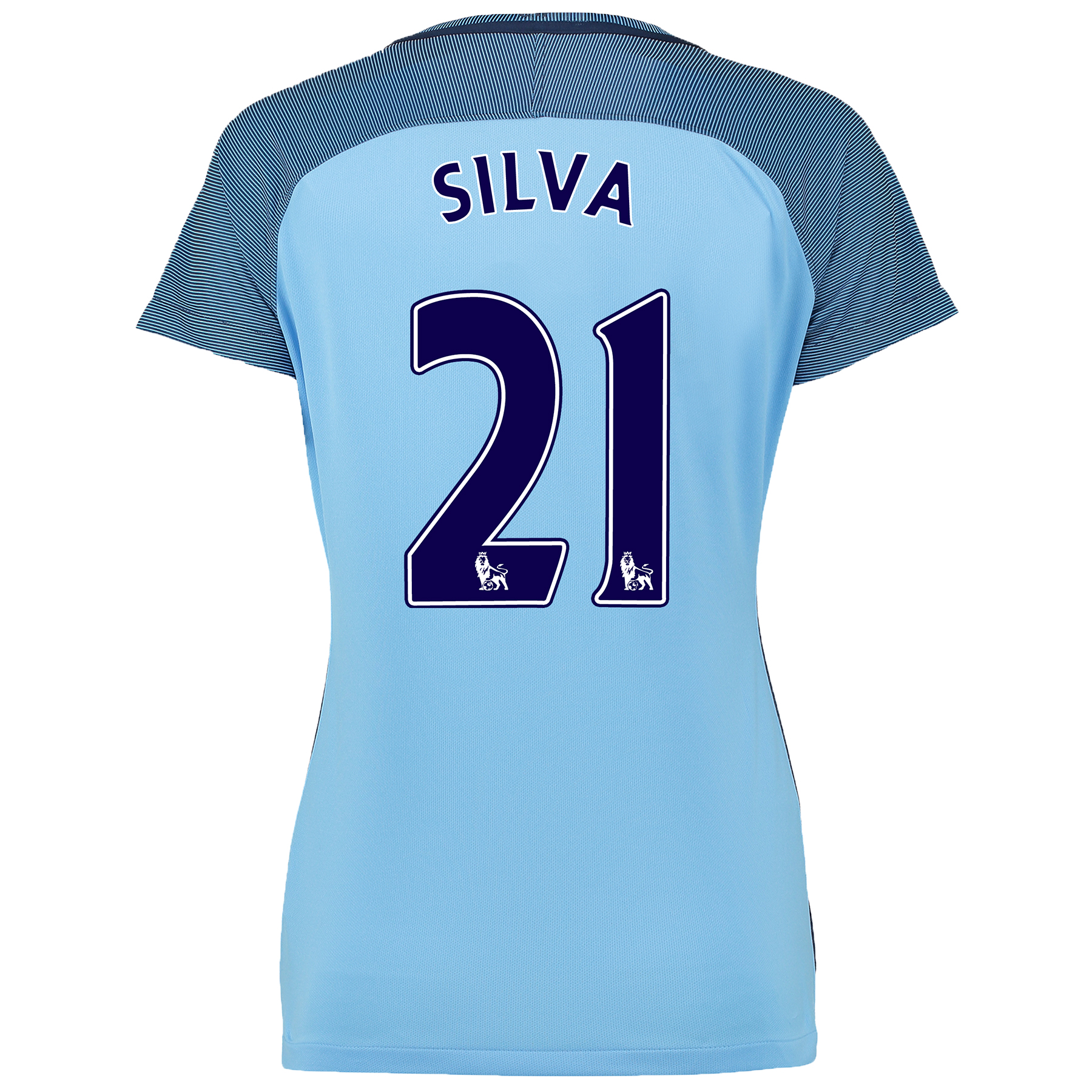 Manchester City Home Shirt 2016-17 - Womens with Silva 21 printing