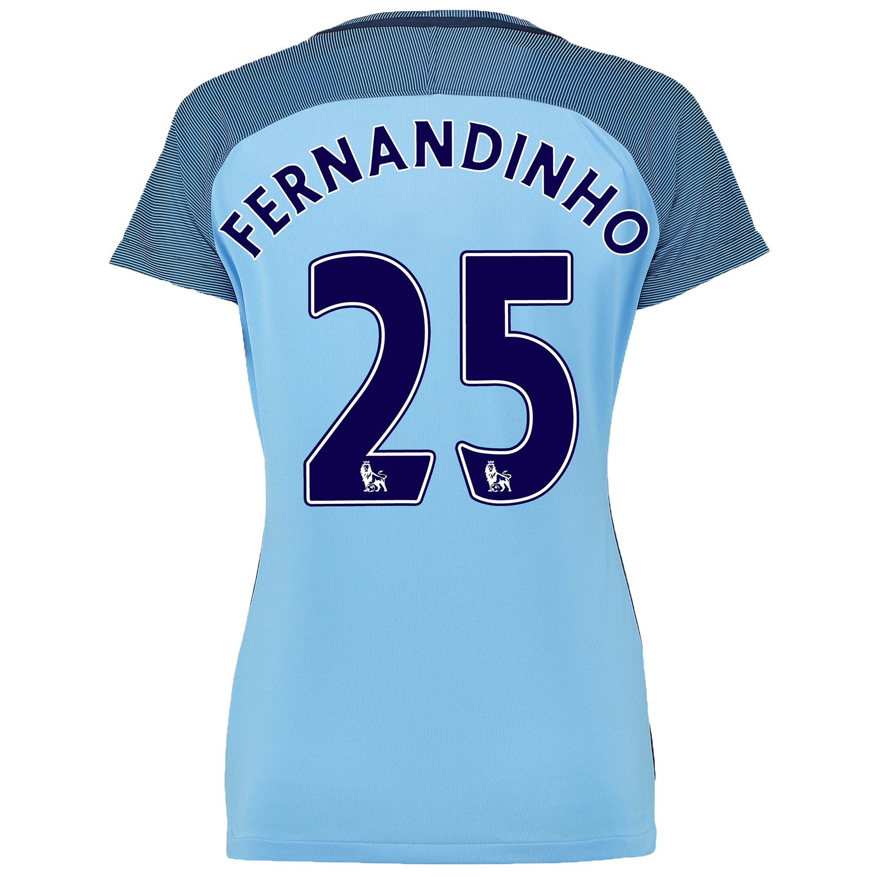 Manchester City Home Shirt 2016-17 - Womens with Fernandinho 25 printi