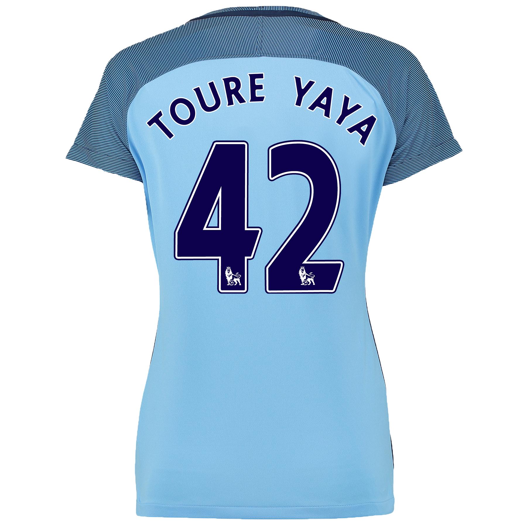 Manchester City Home Shirt 2016-17 - Womens with Toure Yaya 42 printin