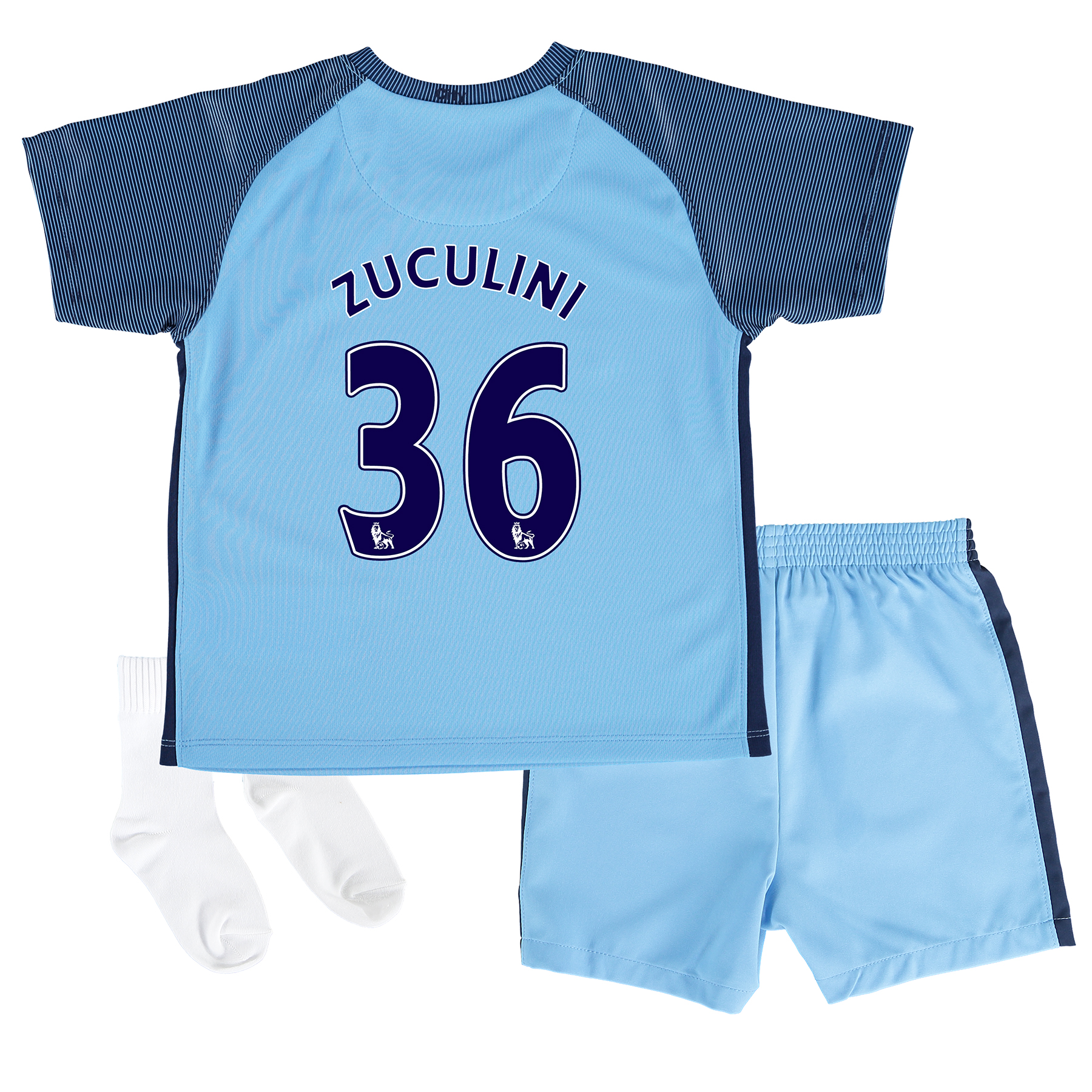 Manchester City Home Kit 2016-17 - Infants with Zuculini 36 printing