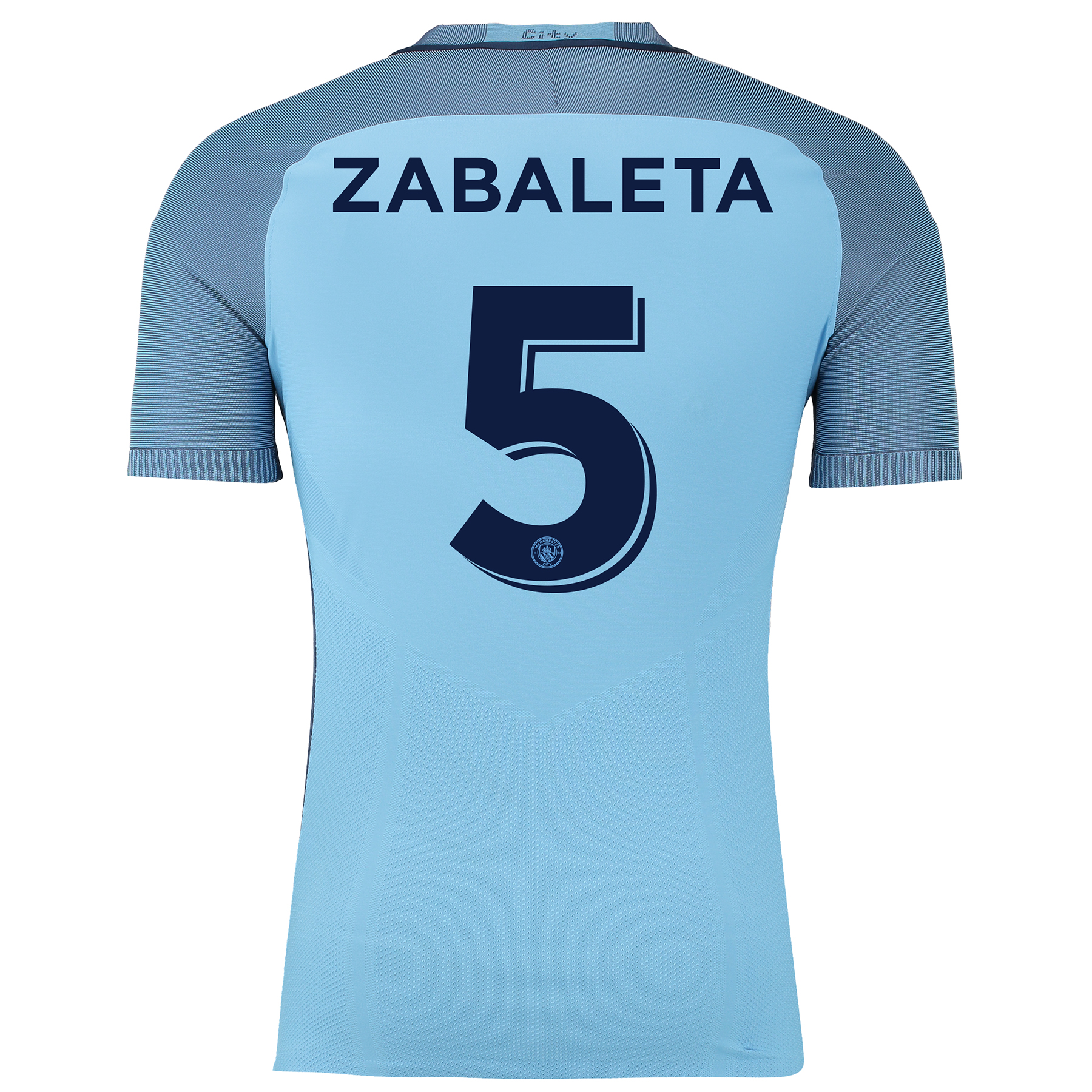 Manchester City Home Cup Match Shirt 2016-17 with Zabaleta 5 printing