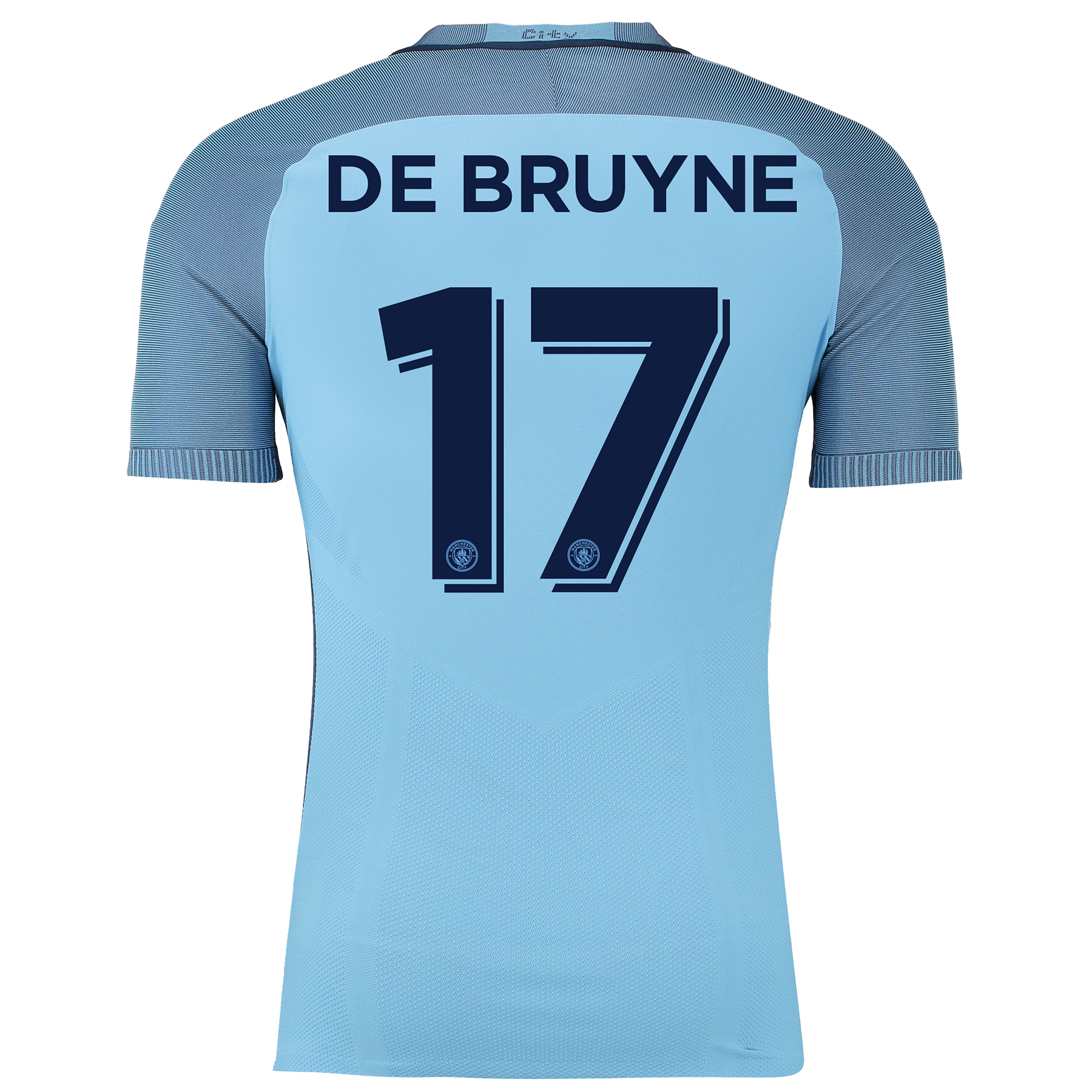 Manchester City Home Cup Match Shirt 2016-17 with De Bruyne 17 printin