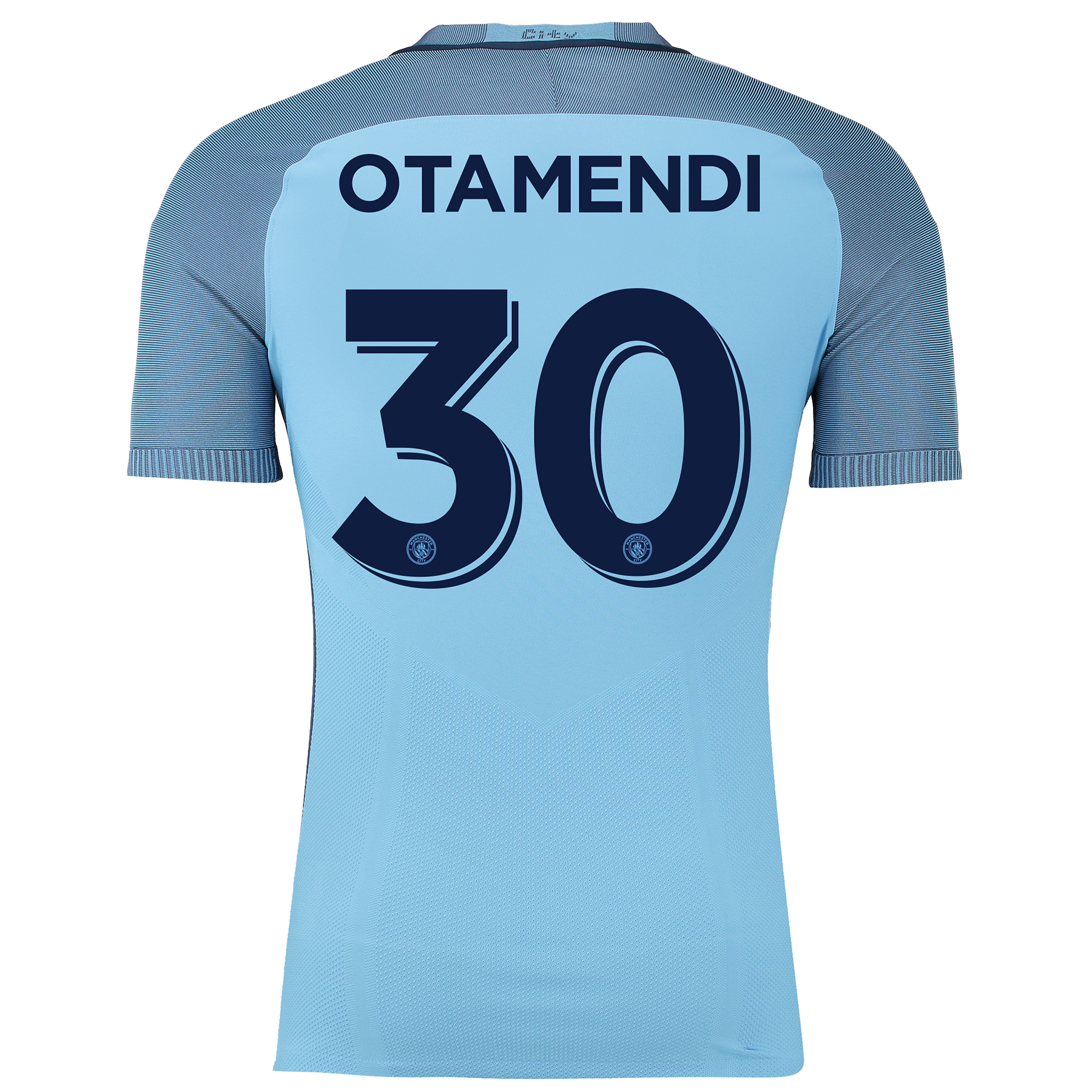 Manchester City Home Cup Match Shirt 2016-17 with Otamendi 30 printing