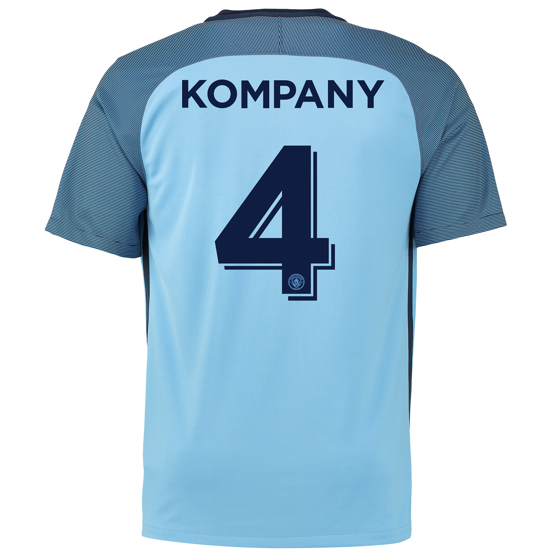 Manchester City Home Cup Shirt 2016-17 with Kompany 4 printing