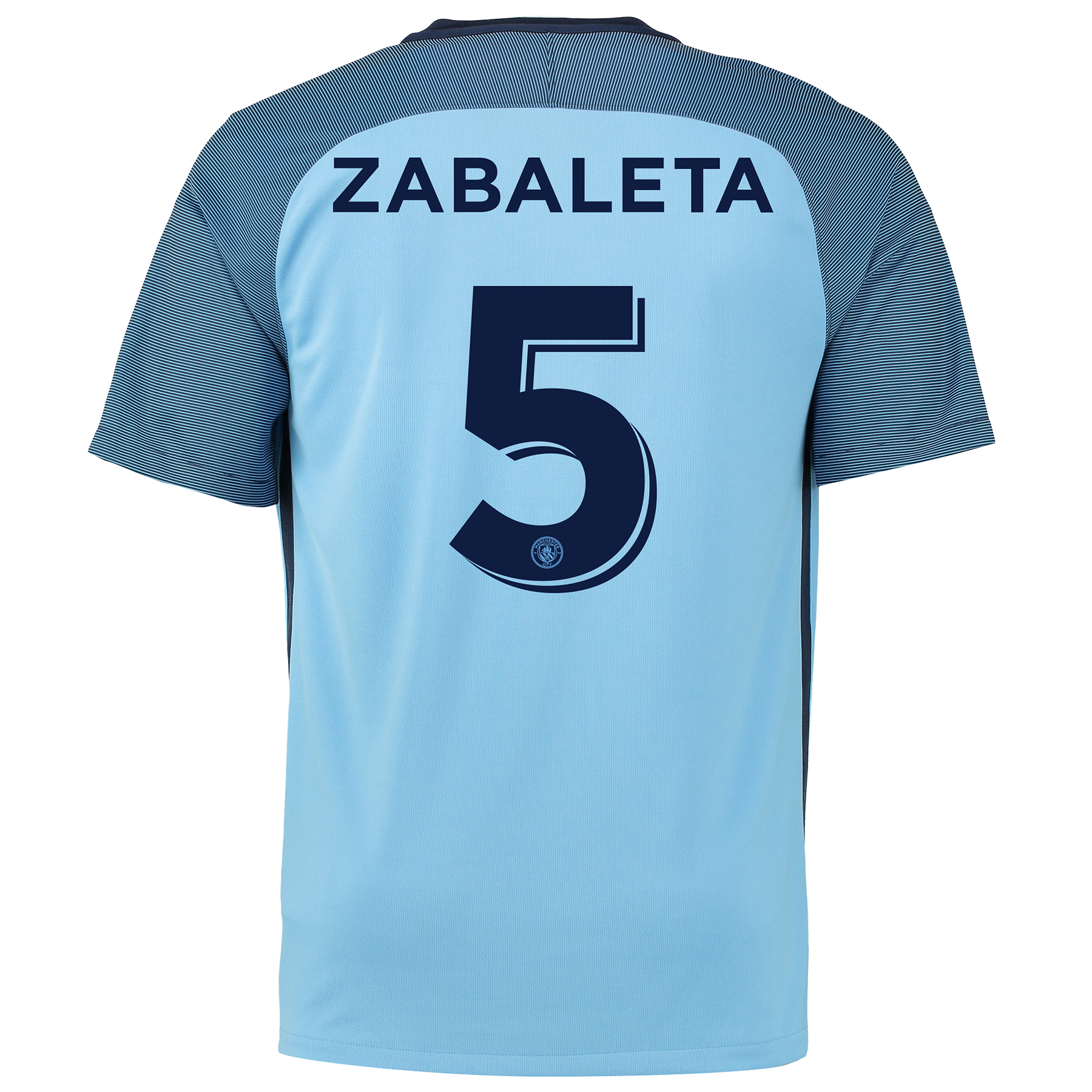 Manchester City Home Cup Shirt 2016-17 with Zabaleta 5 printing