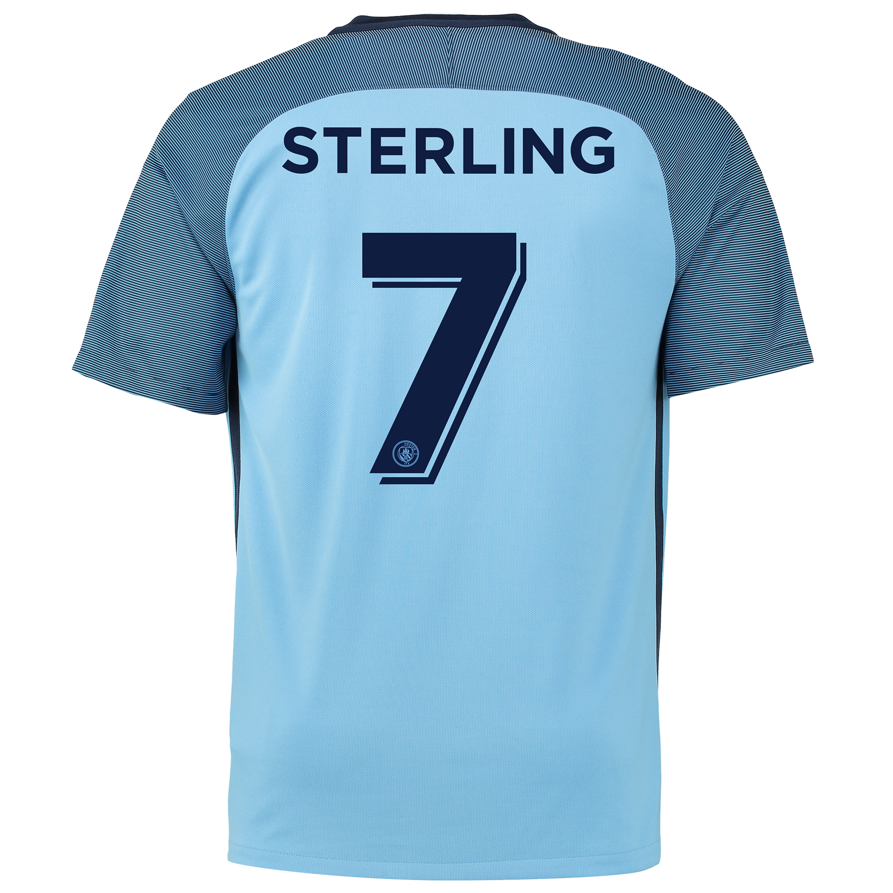 Manchester City Home Cup Shirt 2016-17 with Sterling 7 printing