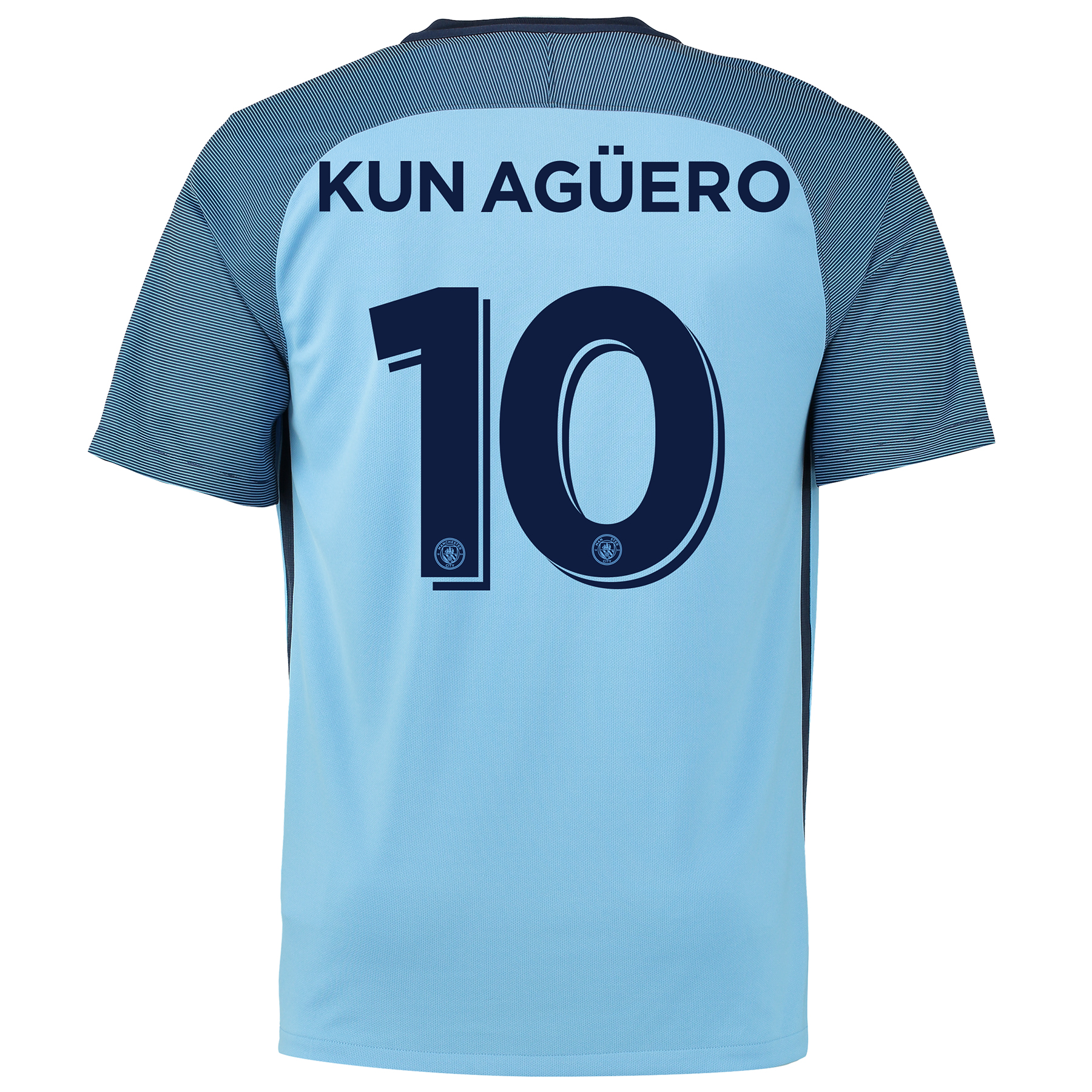 Manchester City Home Cup Shirt 2016-17 with Kun Ag??ero  10 printing