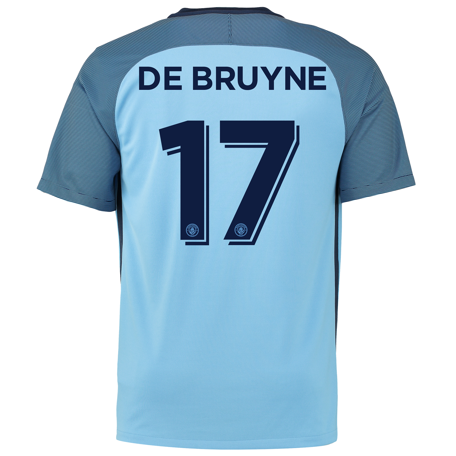 Manchester City Home Cup Shirt 2016-17 with De Bruyne 17 printing