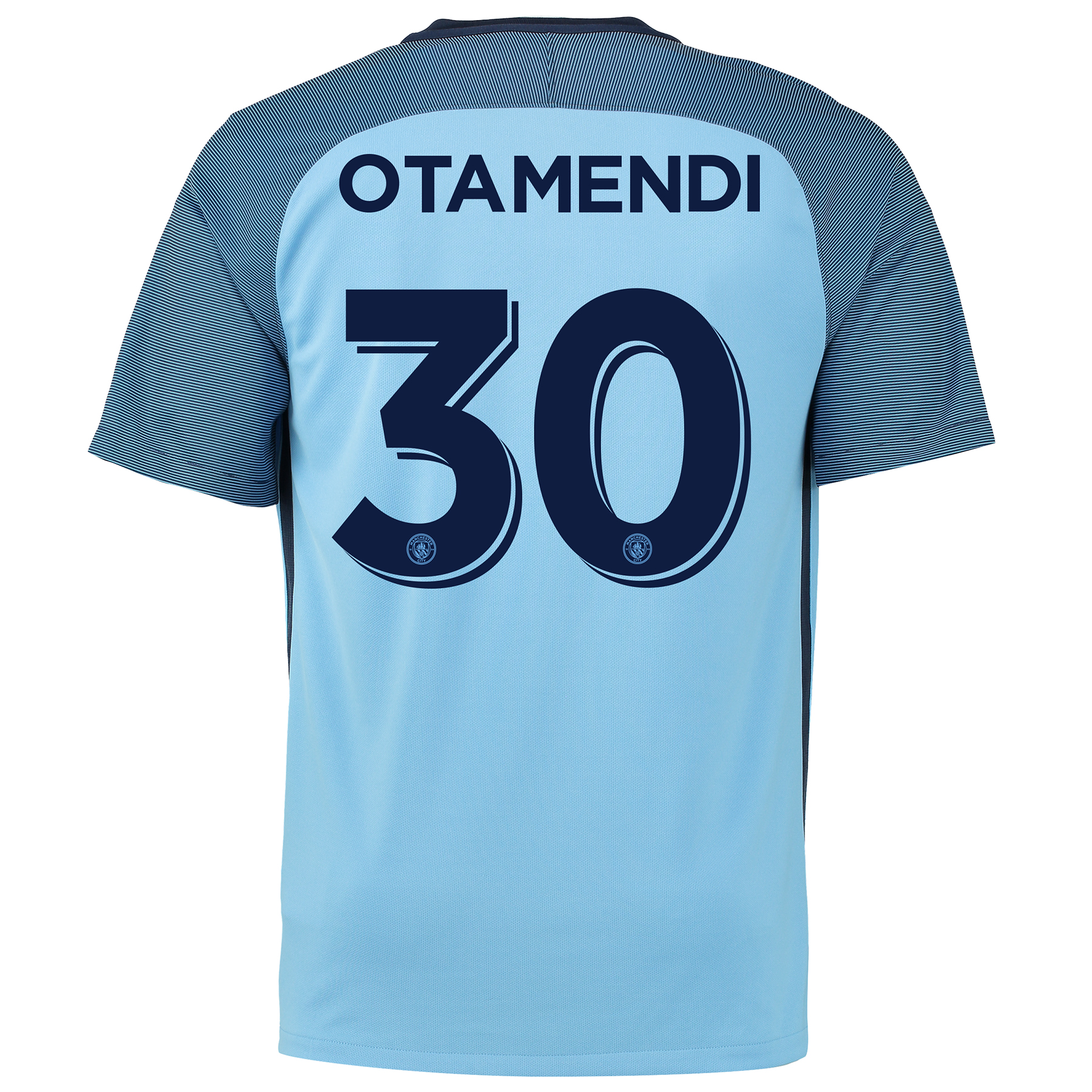 Manchester City Home Cup Shirt 2016-17 with Otamendi 30 printing