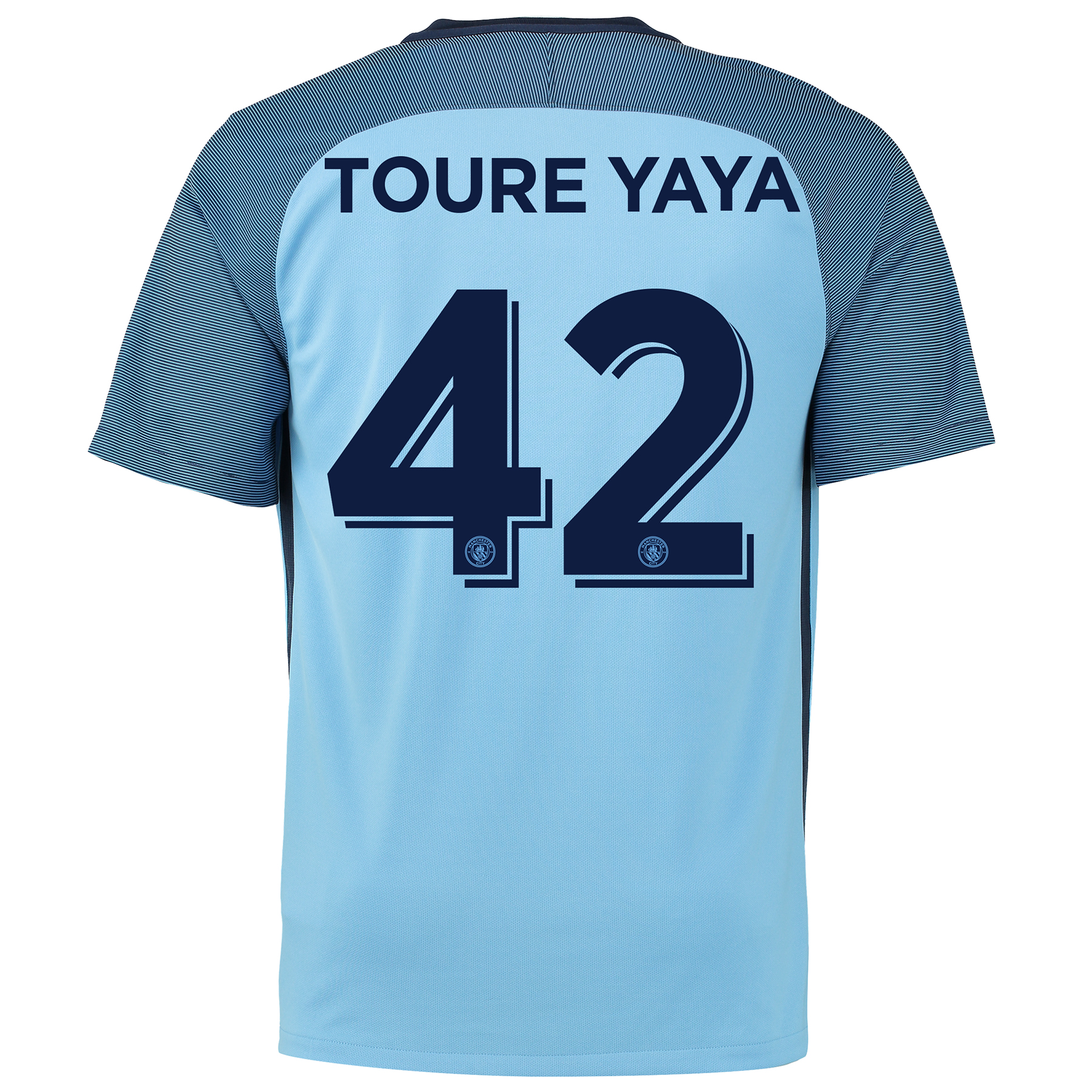 Manchester City Home Cup Shirt 2016-17 with Toure Yaya 42 printing