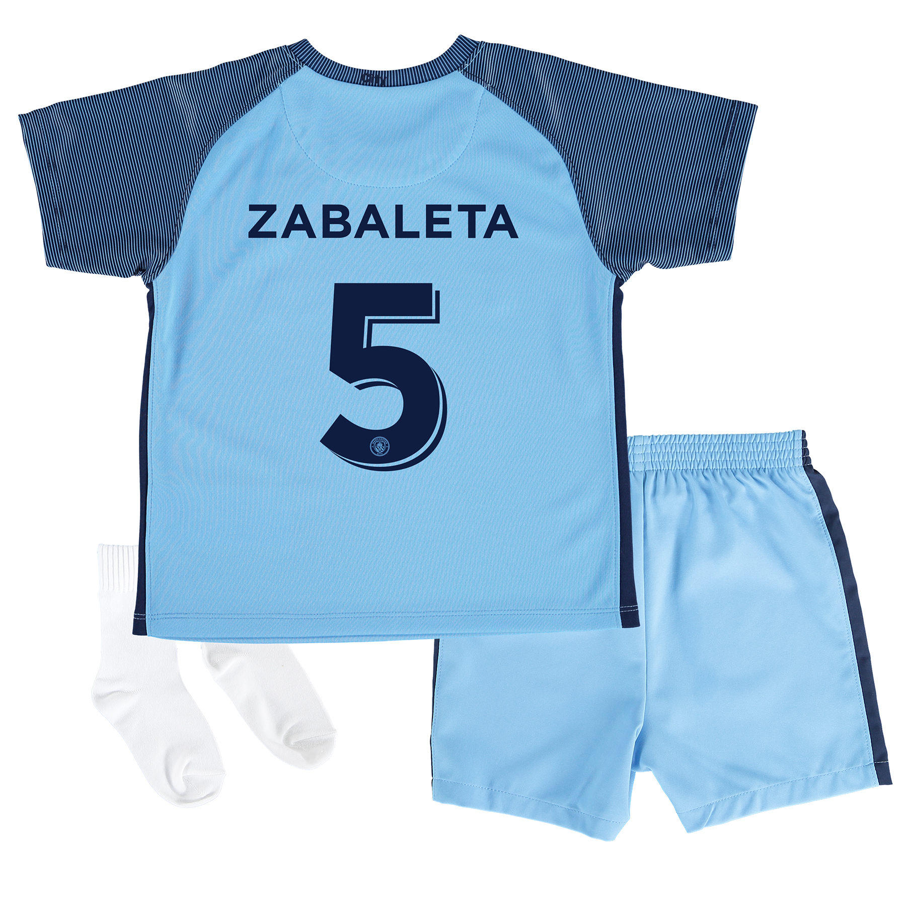 Manchester City Home Cup Kit 2016-17 - Infants with Zabaleta 5 printin