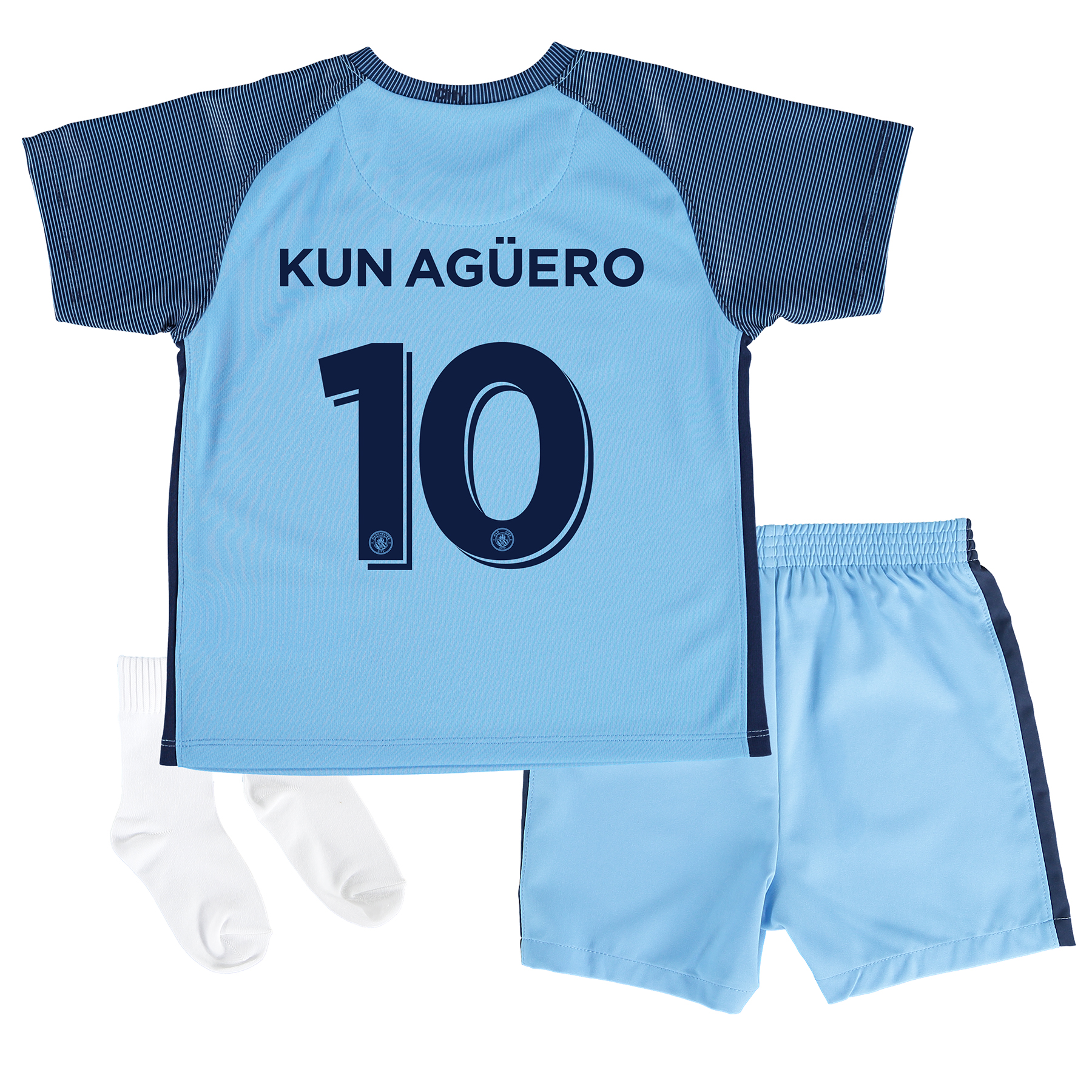 Manchester City Home Cup Kit 2016-17 - Infants with Kun Ag??ero  10 pri