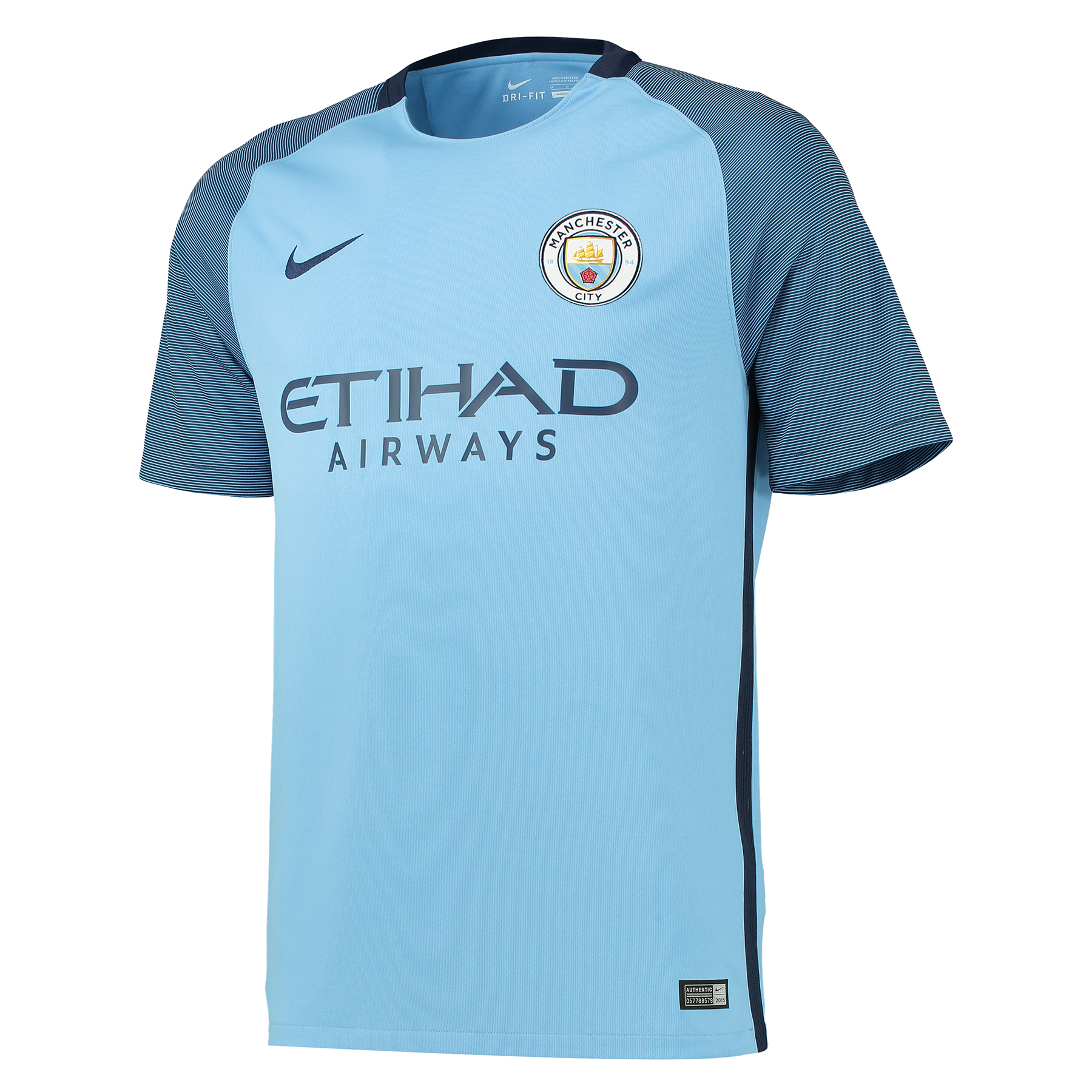 Manchester City Home Shirt 2016-17 with Houghton 6 printing