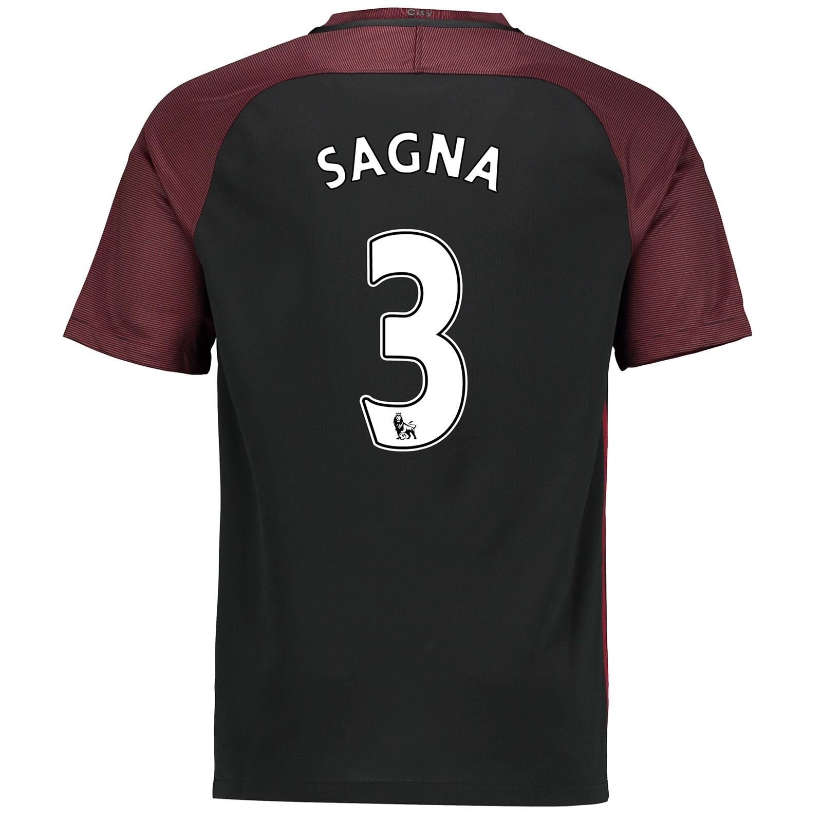 Manchester City Away Stadium Shirt 2016-17 with Sagna 3 printing