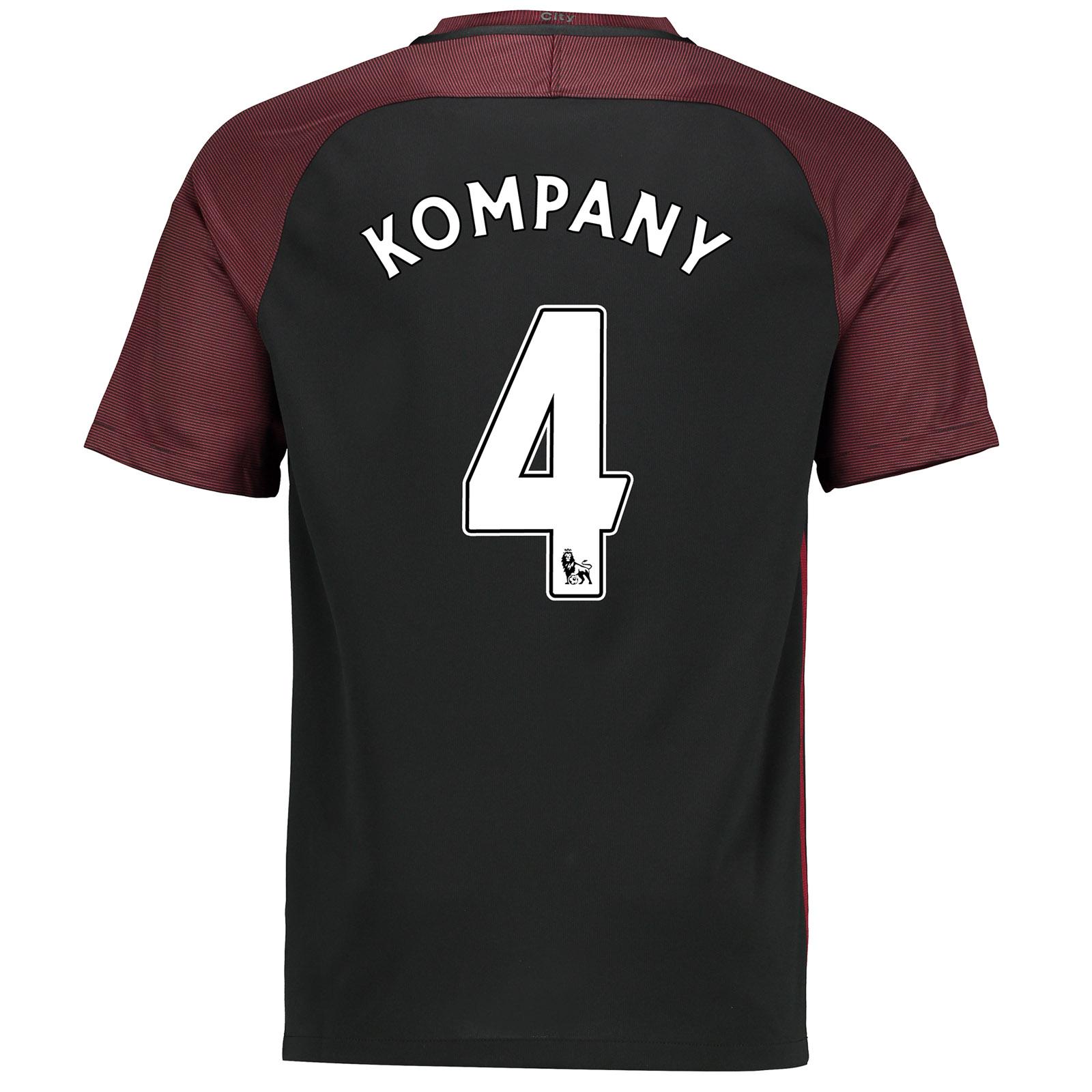 Manchester City Away Stadium Shirt 2016-17 with Kompany 4 printing