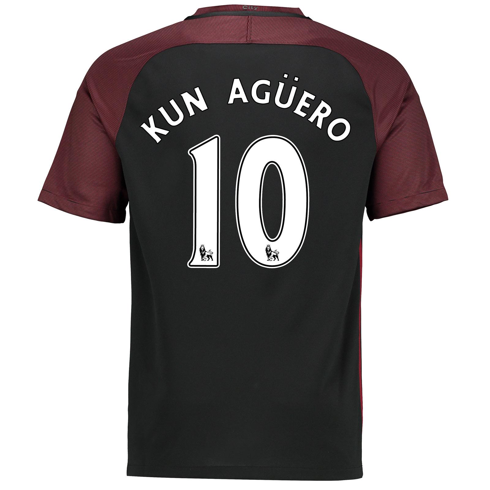 Manchester City Away Stadium Shirt 2016-17 with Kun Ag??ero  10 printin