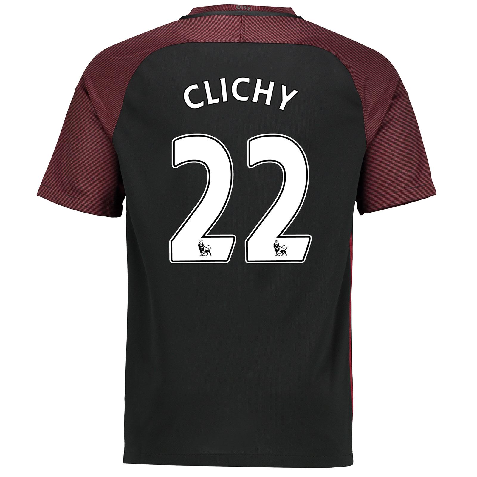 Manchester City Away Stadium Shirt 2016-17 with Clichy 22 printing
