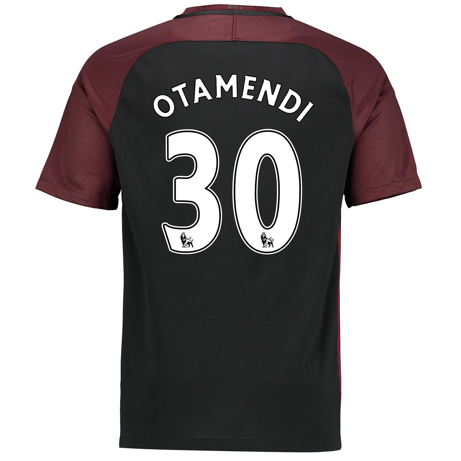 Manchester City Away Stadium Shirt 2016-17 with Otamendi 30 printing