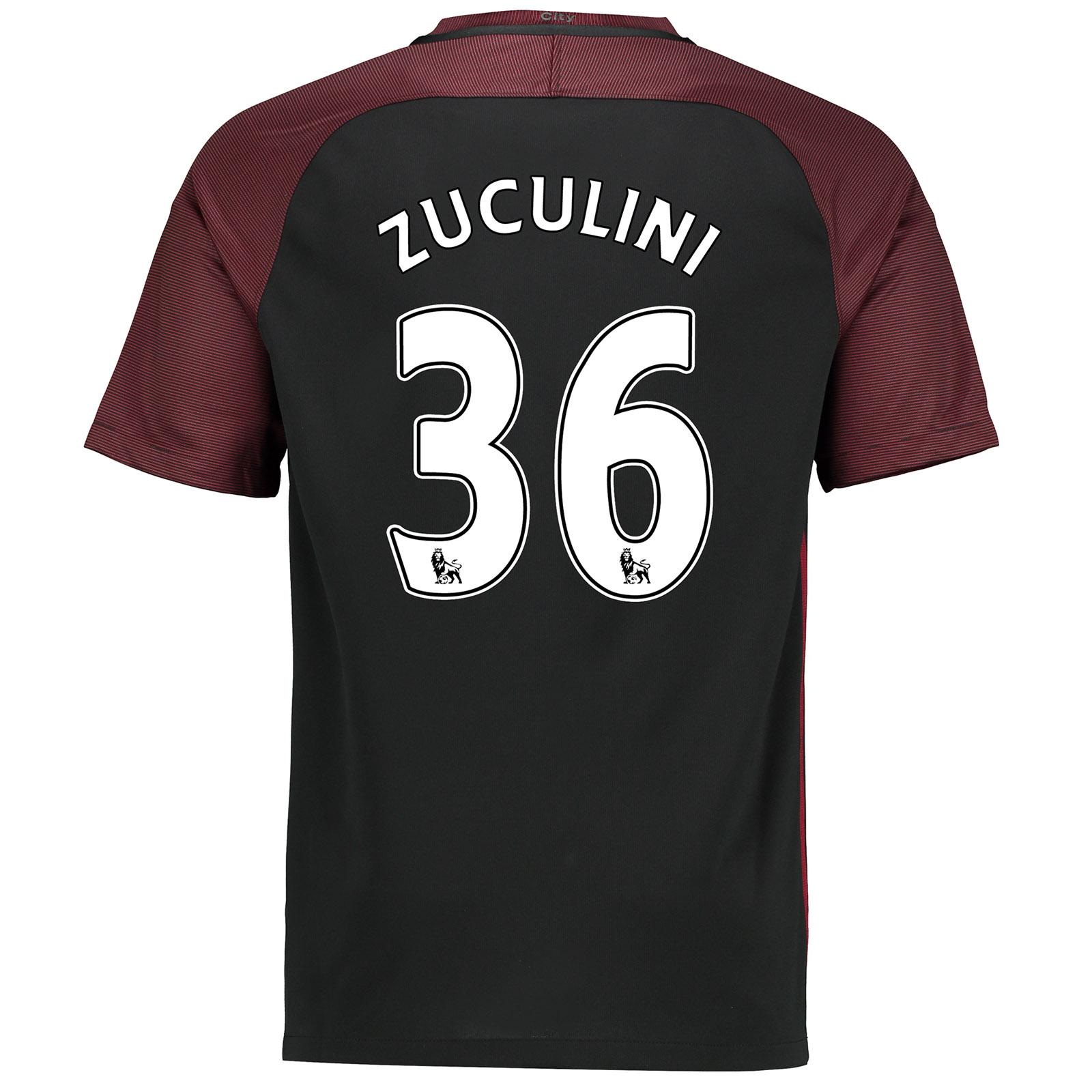Manchester City Away Stadium Shirt 2016-17 with Zuculini 36 printing