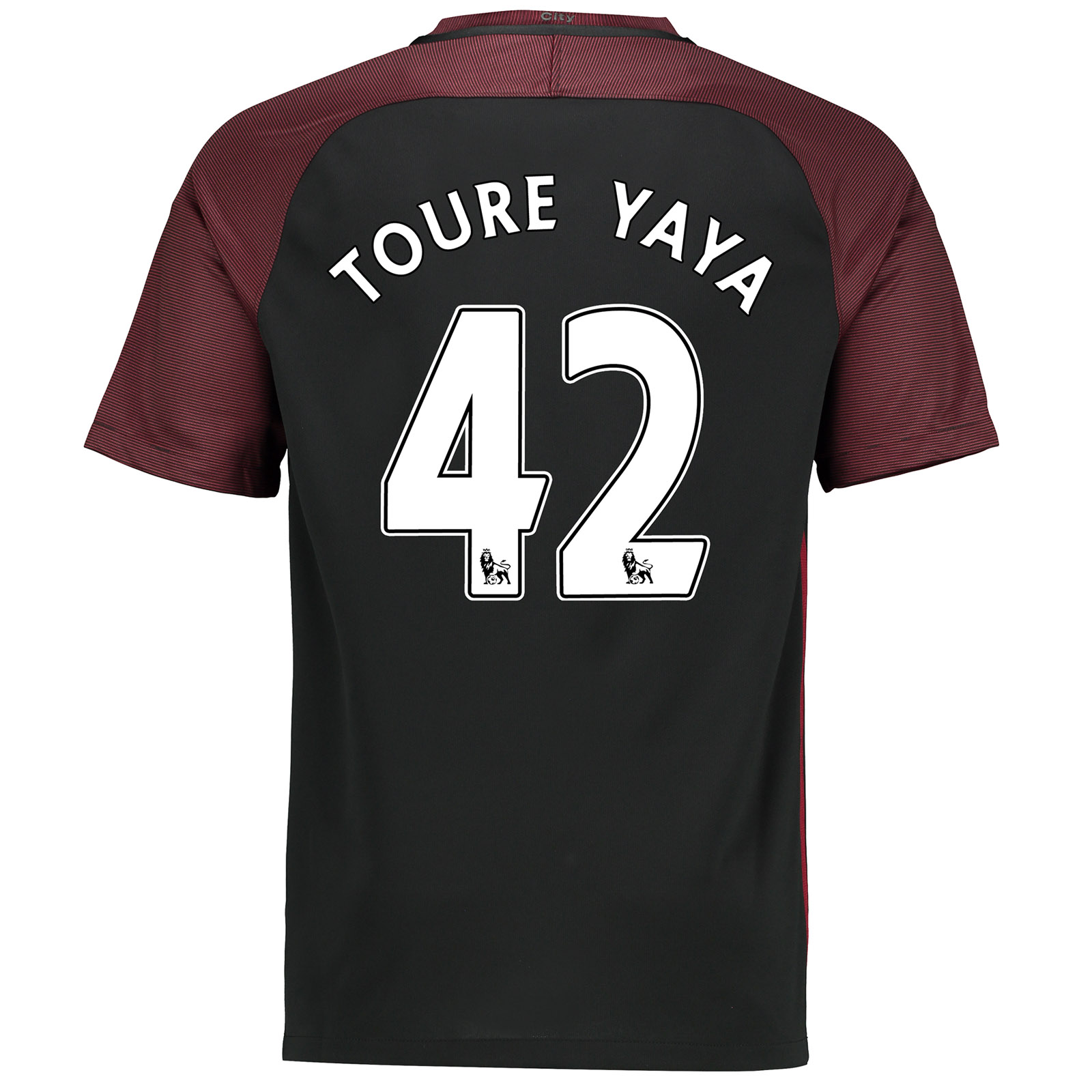 Manchester City Away Stadium Shirt 2016-17 with Toure Yaya 42 printing