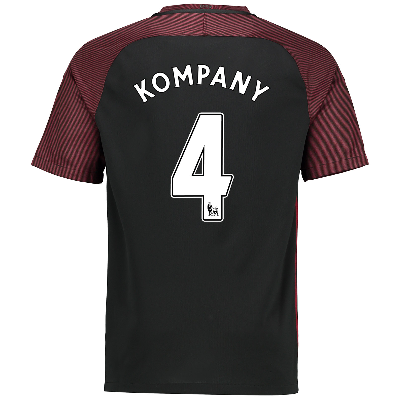 Manchester City Away Stadium Shirt 2016-17-Kids with Kompany 4 printin