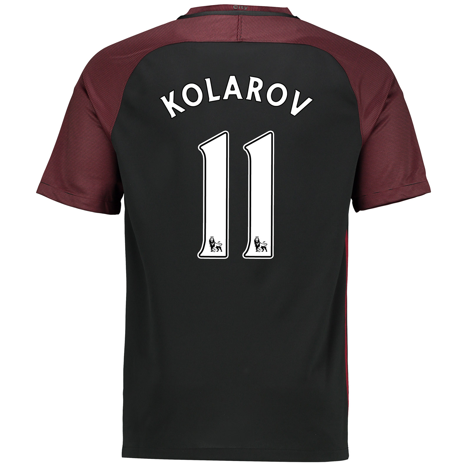 Manchester City Away Stadium Shirt 2016-17-Kids with Kolarov 11 printi