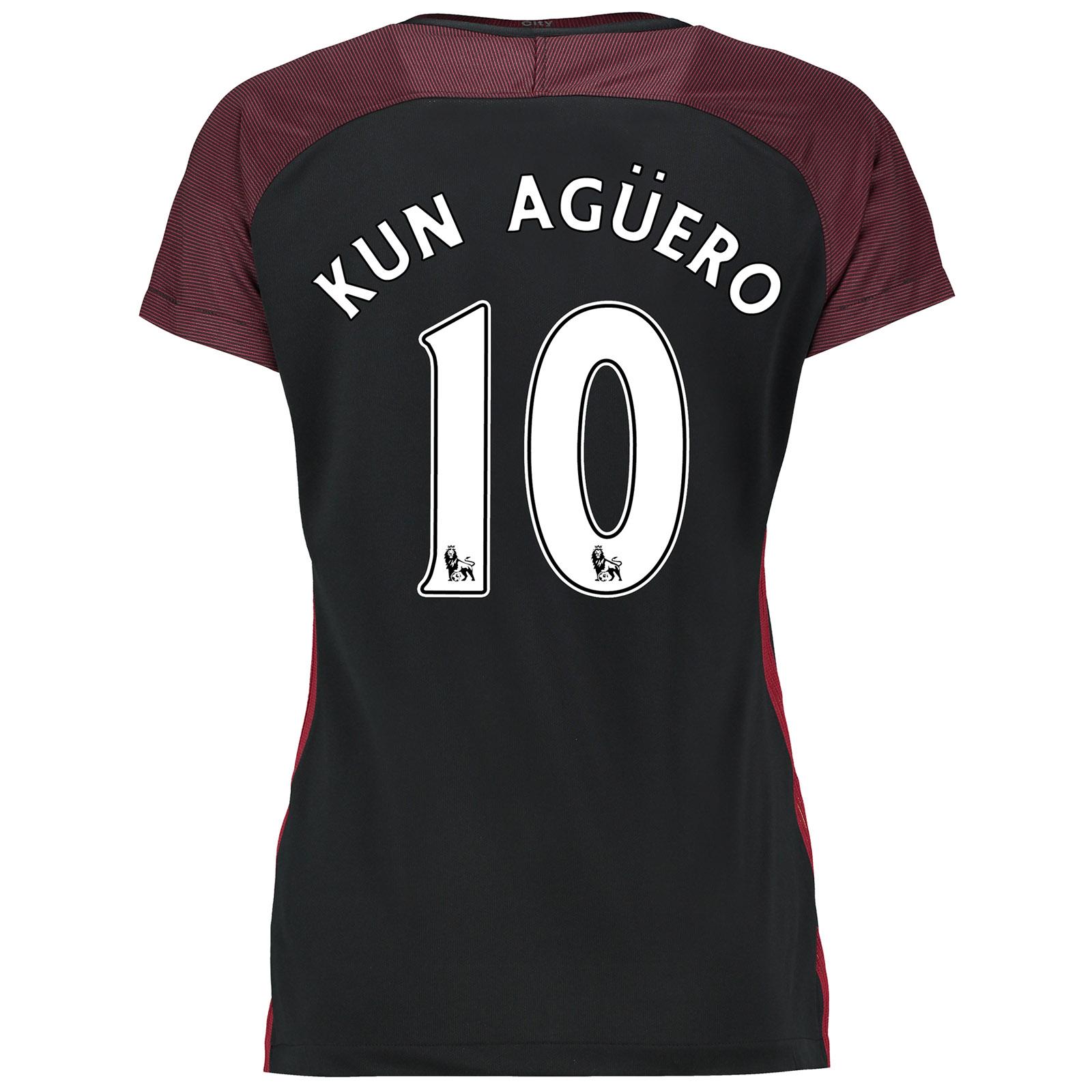 Manchester City Away Stadium Shirt 2016-17-Womens with Kun Ag??ero  10