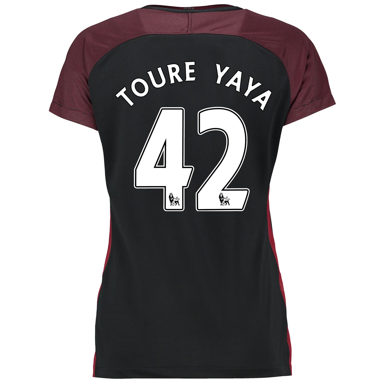 Manchester City Away Stadium Shirt 2016-17-Womens with Toure Yaya 42 p