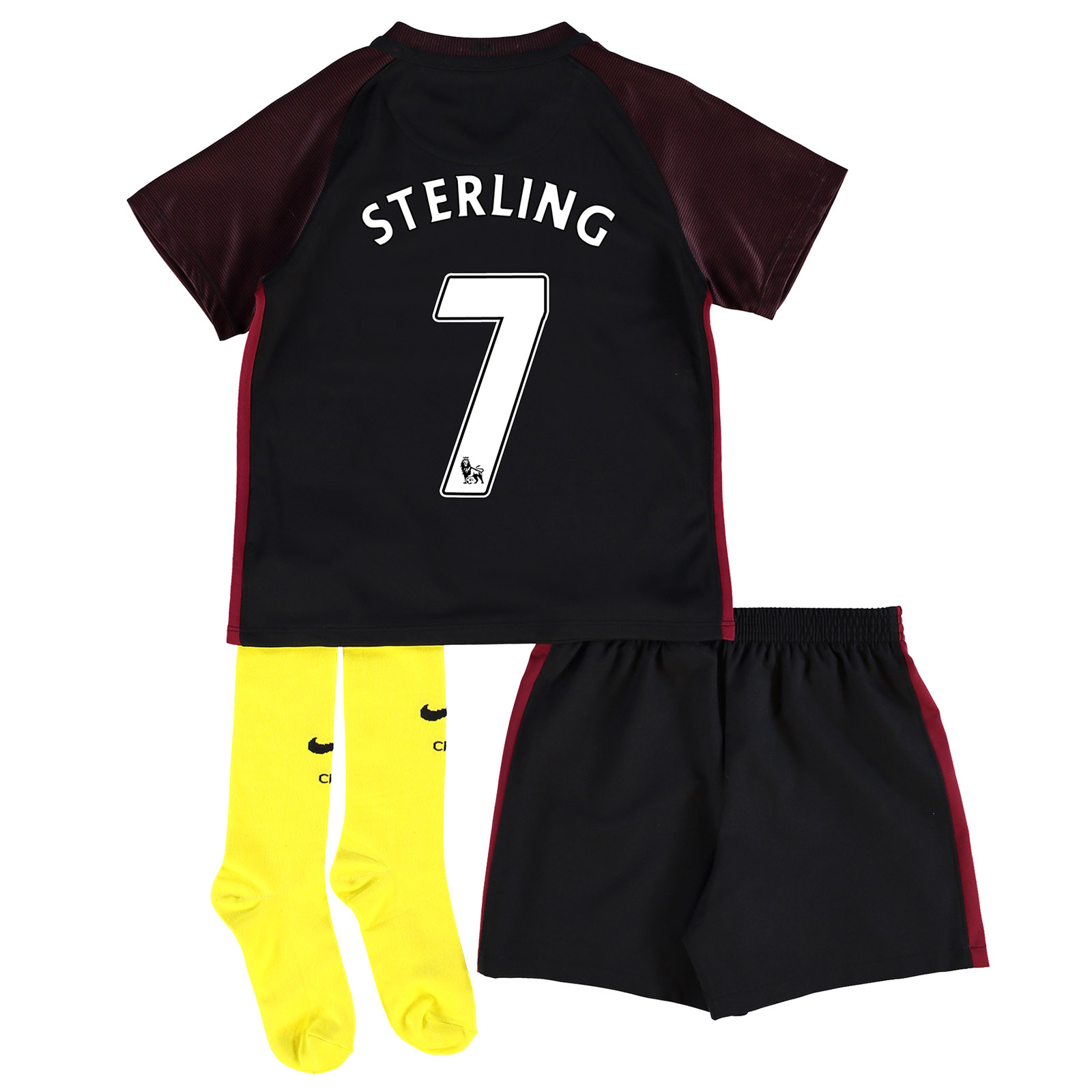 Manchester City Away Stadium Kit 2016-17 - Little Kids with Sterling 7