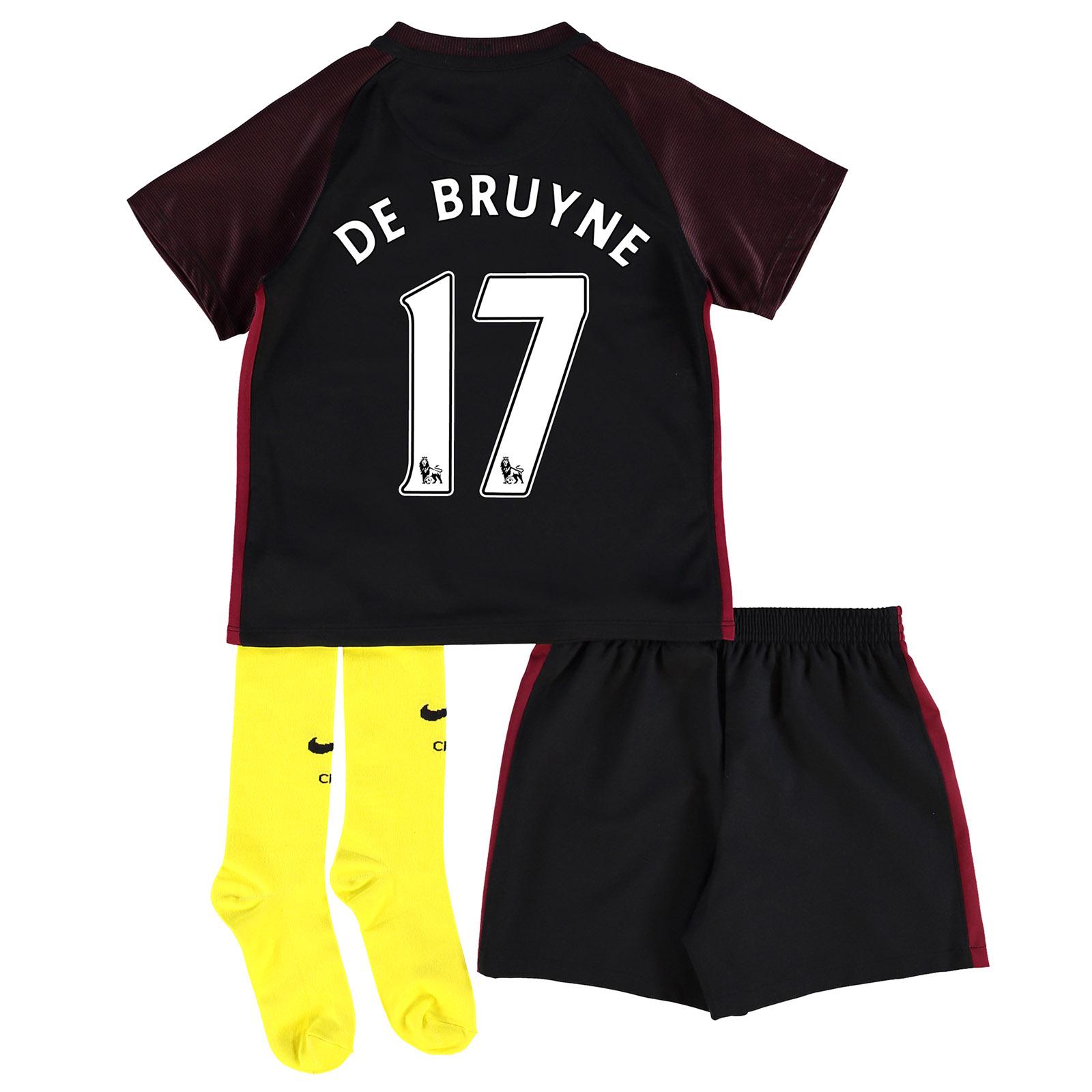 Manchester City Away Stadium Kit 2016-17 - Little Kids with De Bruyne