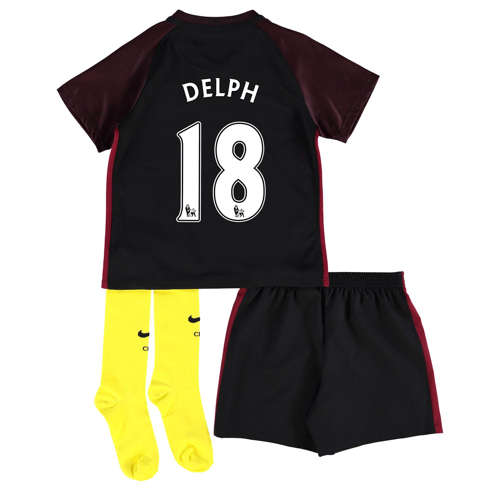 Manchester City Away Stadium Kit 2016-17 - Little Kids with Delph 18 p