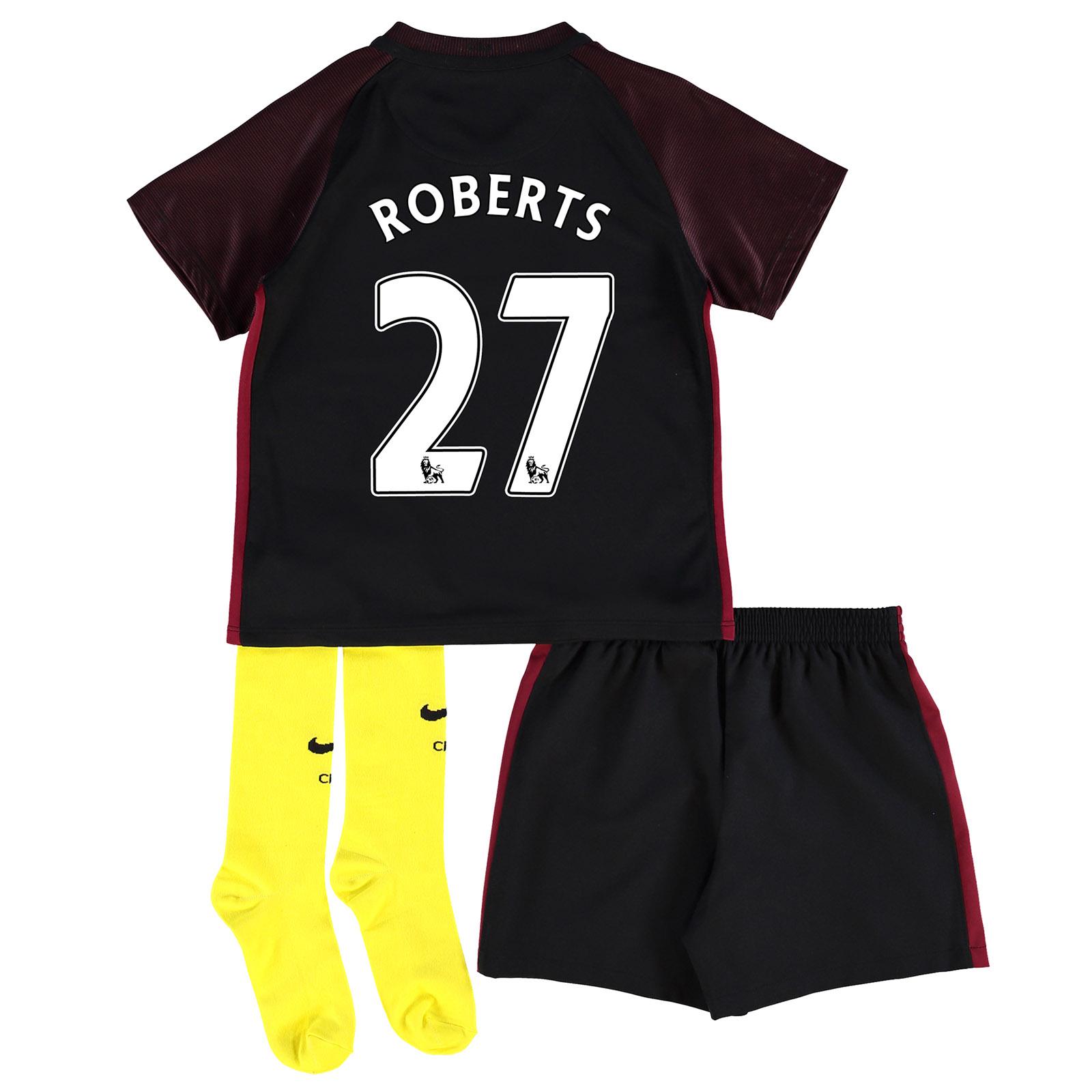 Manchester City Away Stadium Kit 2016-17 - Little Kids with Roberts 27